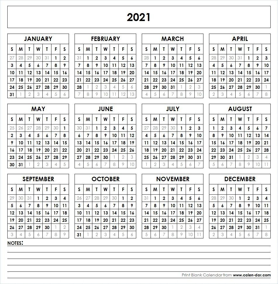 2021 Printable Calendar In 2020 | Printable Yearly Calendar intended for 2021 Printable Pocket Calendars