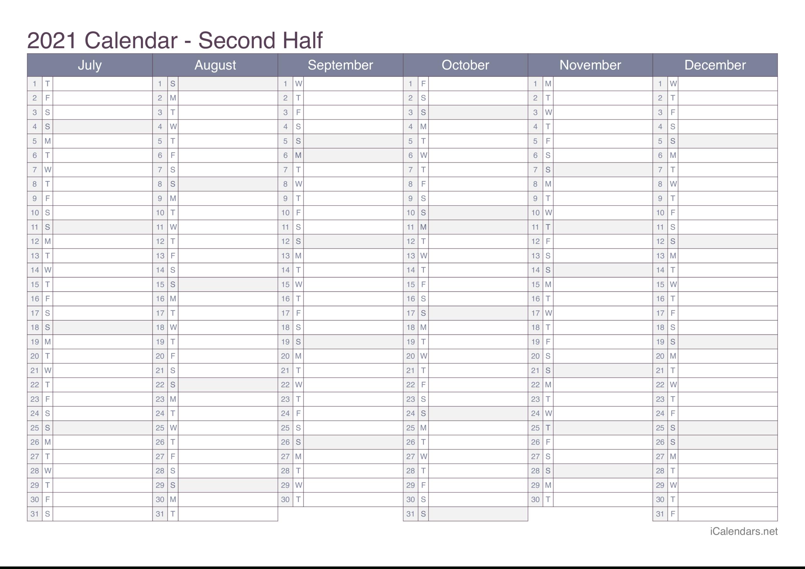2021 Printable Calendar - Pdf Or Excel - Icalendars for Fill In Calendar 2021 Printable
