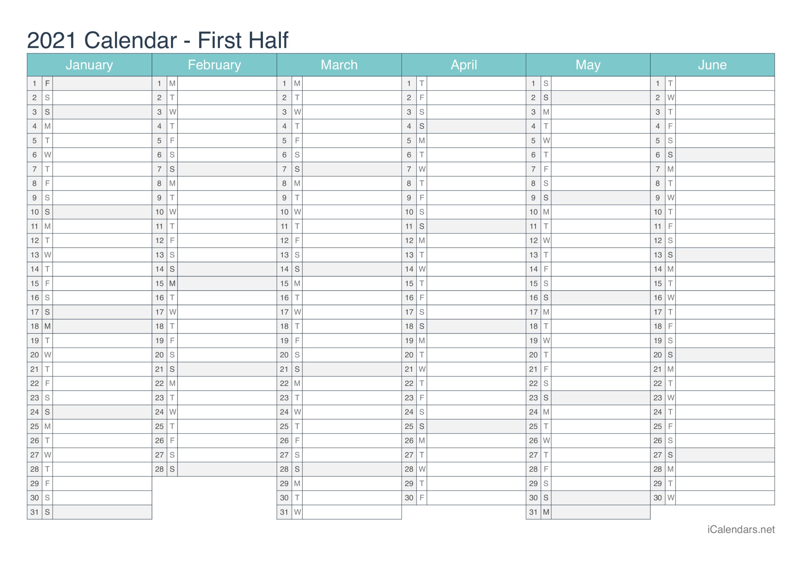2021 Printable Calendar - Pdf Or Excel - Icalendars regarding Printable Calendar 2021 And Fill On