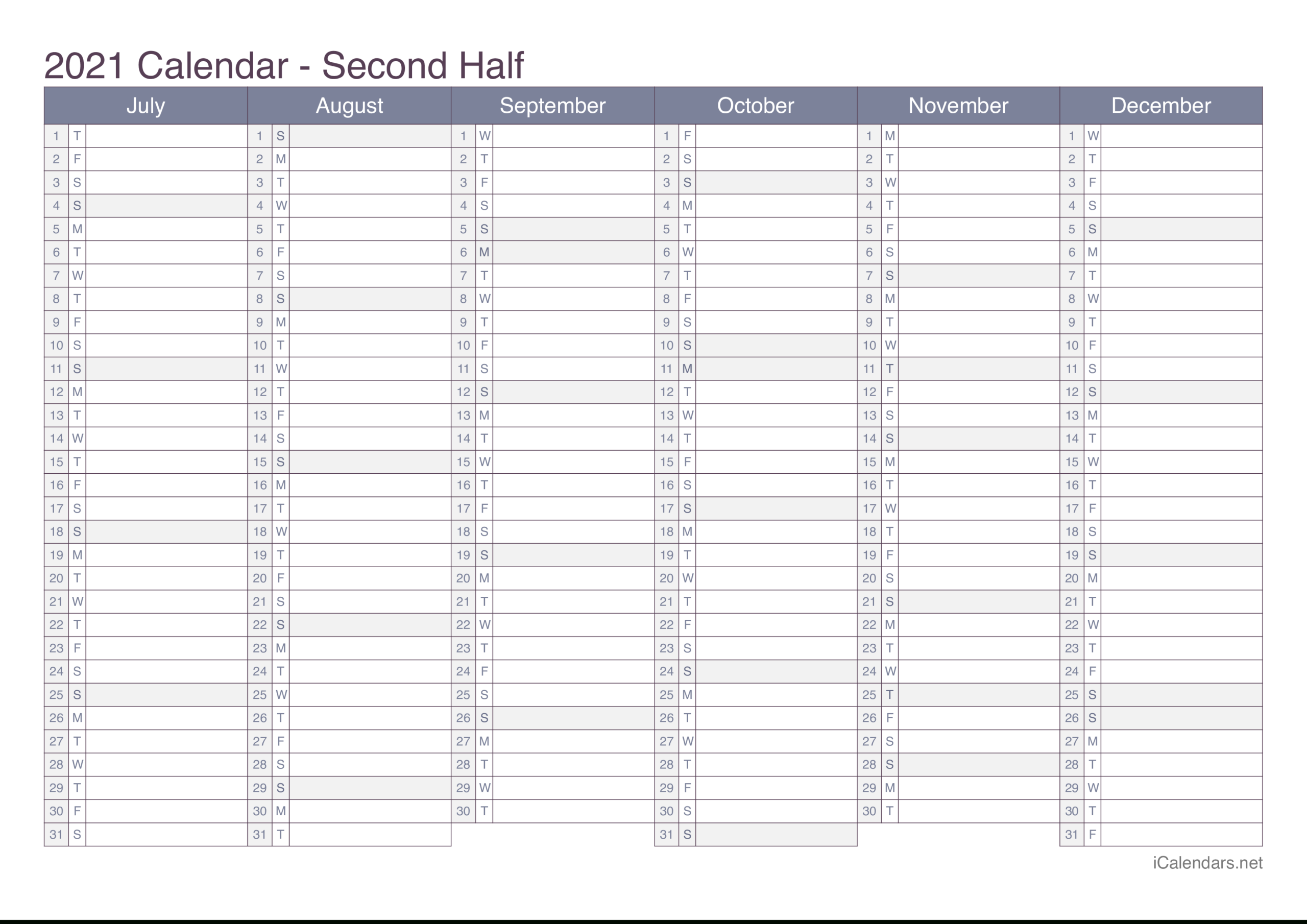 2021 Printable Calendar - Pdf Or Excel - Icalendars with 2021 Yearly Calendar With Boxes