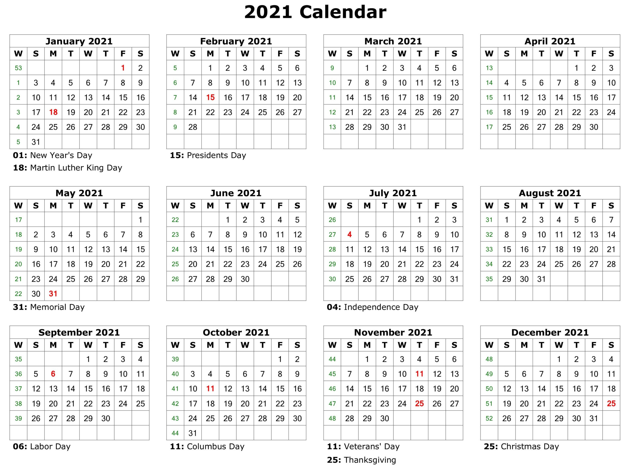 2021 Printable Calendar | Printable Calendar Template inside Depo Calendar 2021 Pdf
