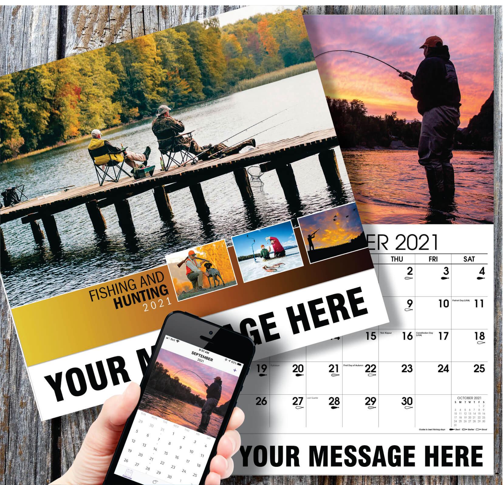 2021 Promotional Advertising Calendar   Fishing And Hunting regarding Hunting Calendar 2021