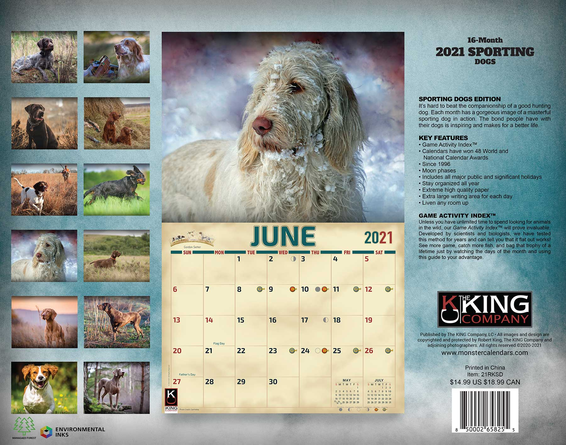 2021 Sporting Dogs Calendar throughout Hunting Calendar 2021