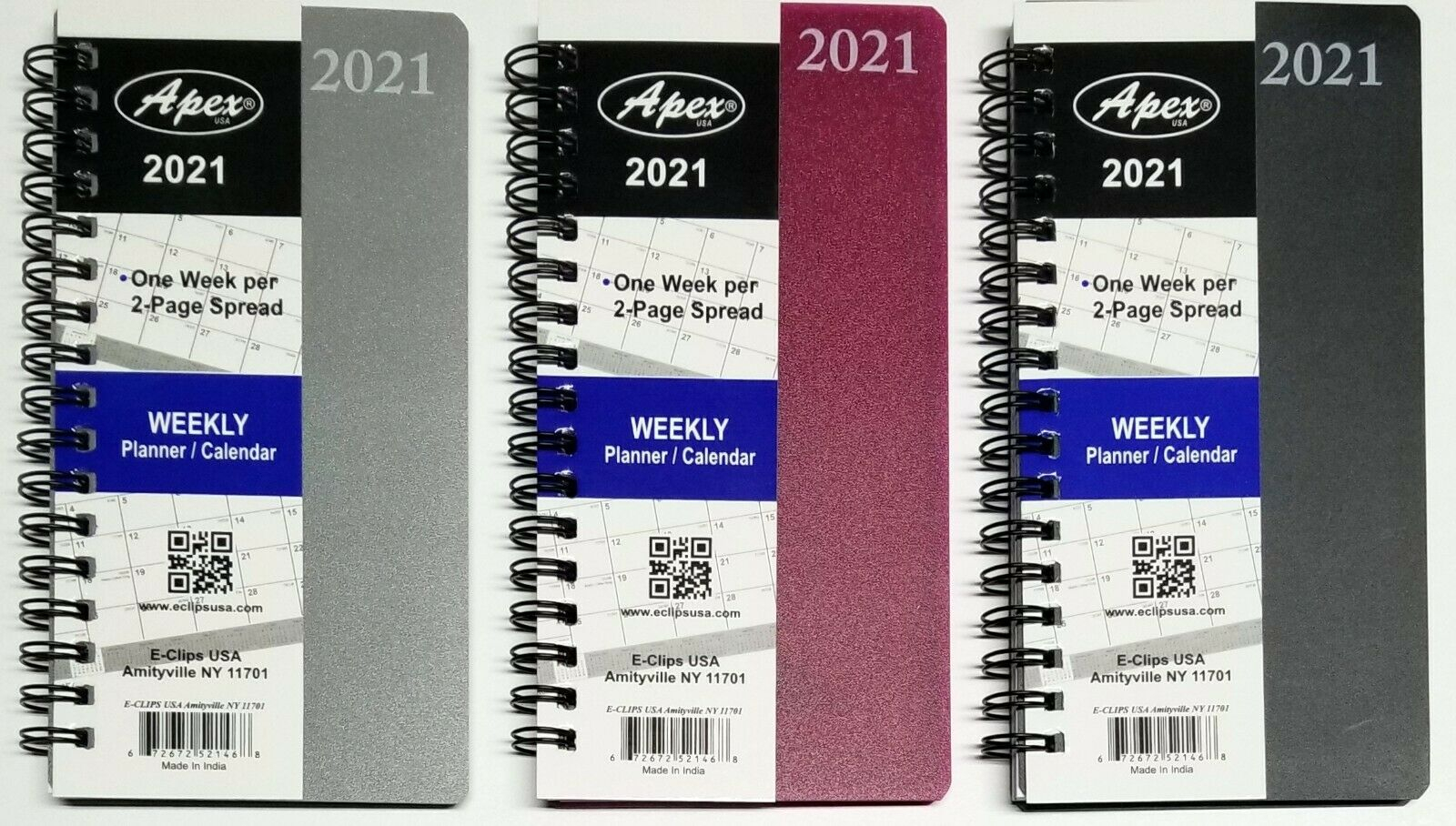 2021 Weekly/Monthly Pocket Size Spiral Planner, Vinyl Cover, 3-1/2 In X  6-1/4 In with regard to 2021 Pocket Sized Weekly Planner: