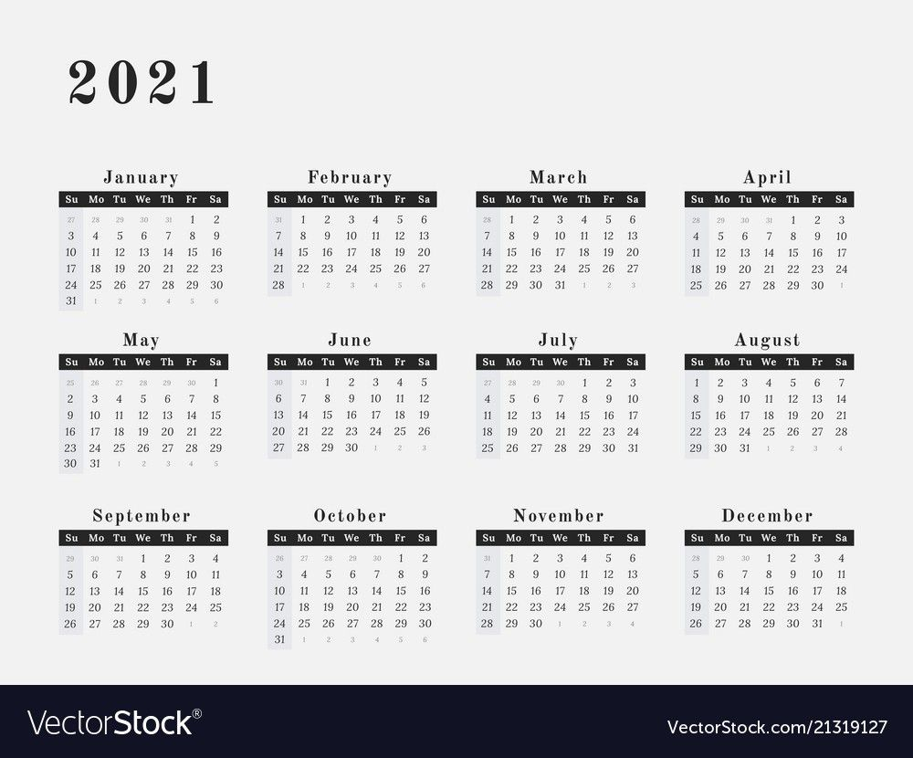 2021 Yearly Calendar Printable Horizontal – Delightful To My with regard to 2021-2021: 2-Year Planner 24-Monthly