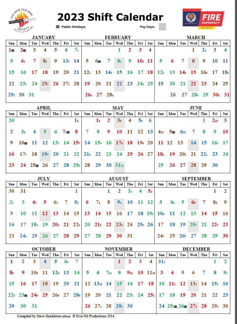 2023 Shift Calendar regarding Shift Calendar 2021