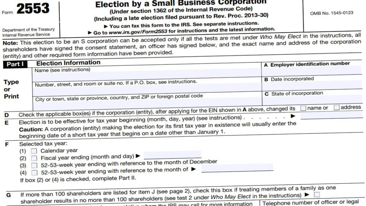 2553 Form 2021 - Irs Forms - Zrivo with Irs W-9 Form 2021