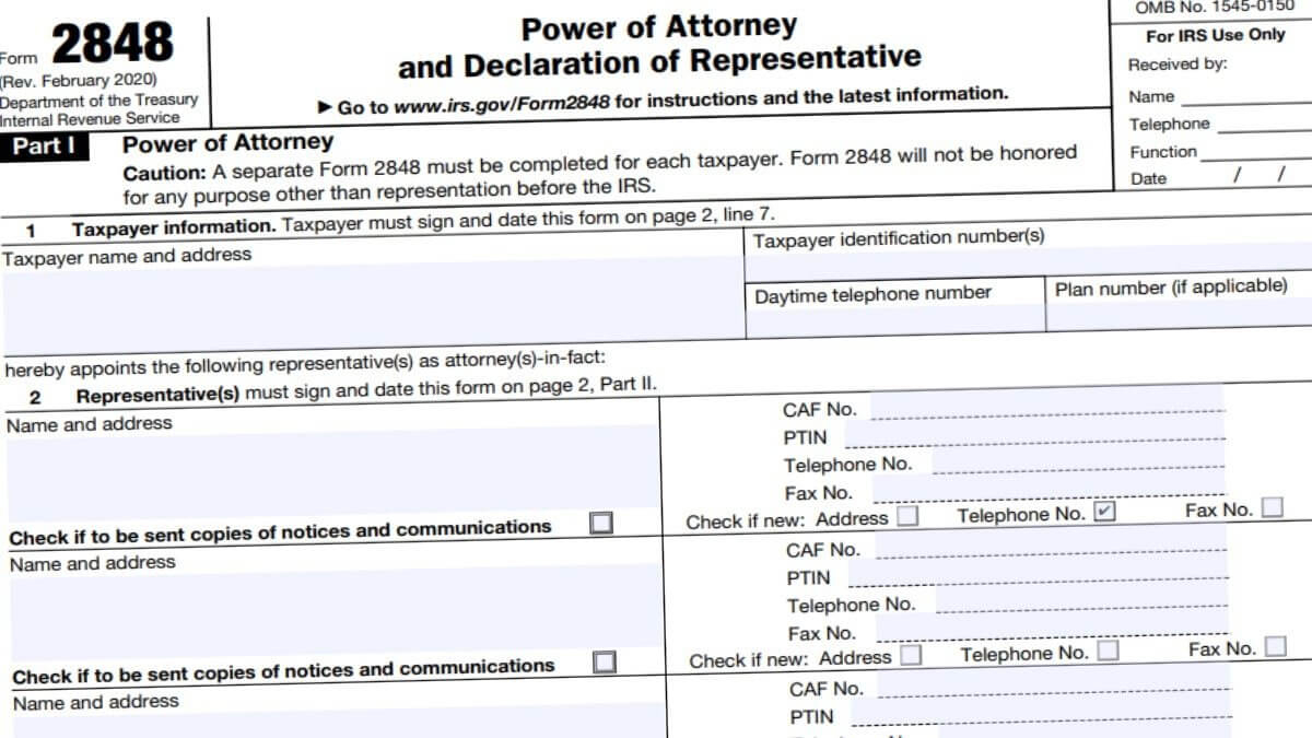 2848 Form 2021 - Irs Forms - Zrivo pertaining to Irs Forms 2021 Printable