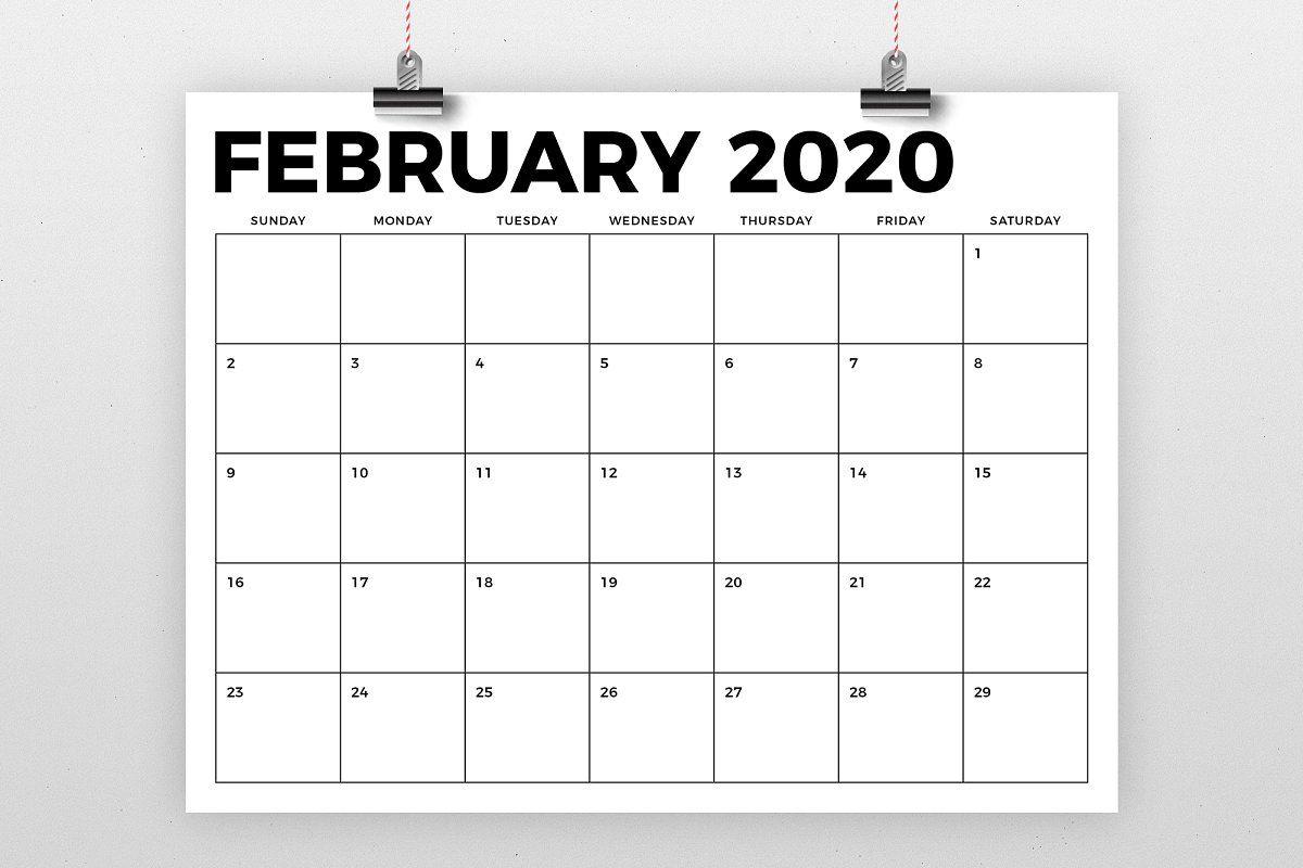 8.5 X 11 Inch Bold 2020 Calendar | Calendar Template, Blank for 2021 Large Bold Printable Calendar