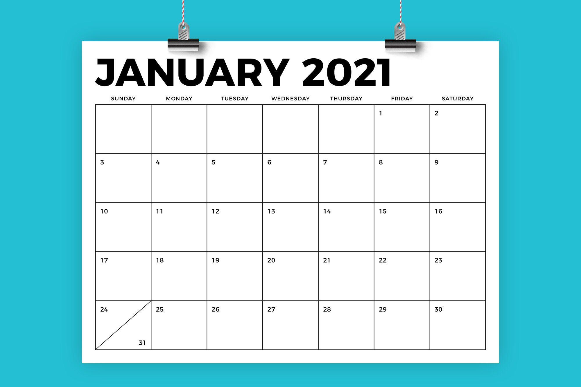 8.5 X 11 Inch Bold 2021 Calendarrunning With Foxes intended for 8.5 X 11 Printable Calendars