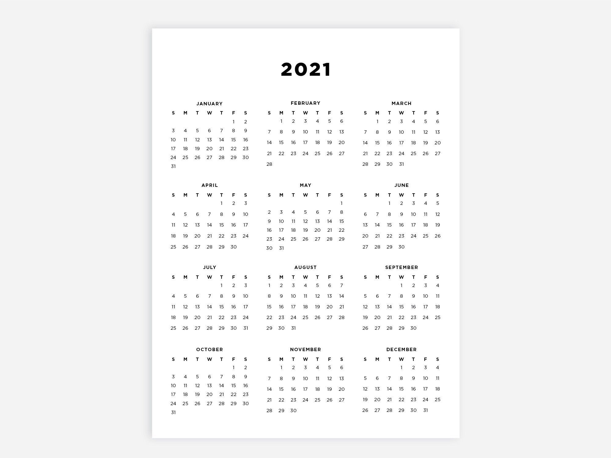 8.5X11 Printable Calendar 2021 Letter Calendar 2021 Year throughout 8.5 X 11 Printable Calendars