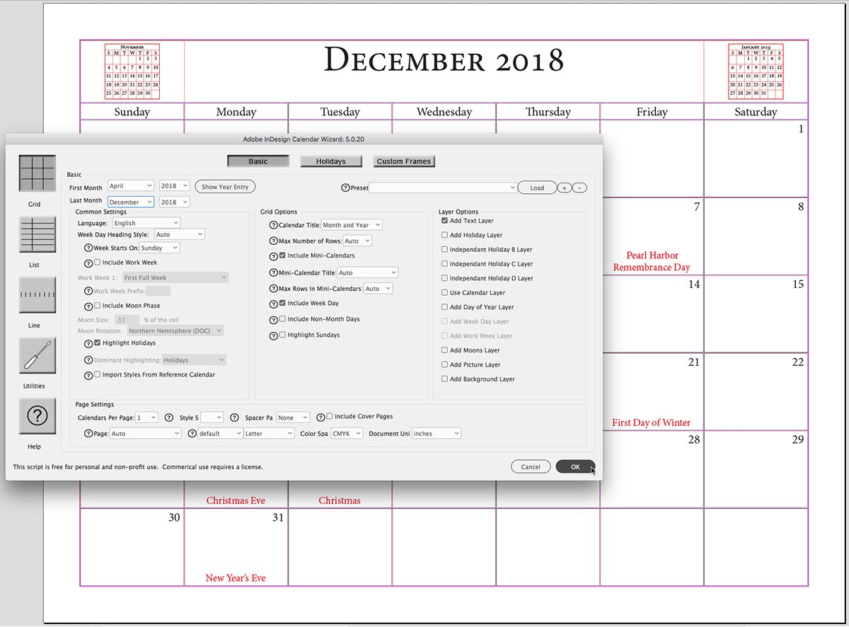 8 Plugins Indesign Gratuits À Utiliser Absolument ! within Calendar Wizard Indesign 2021