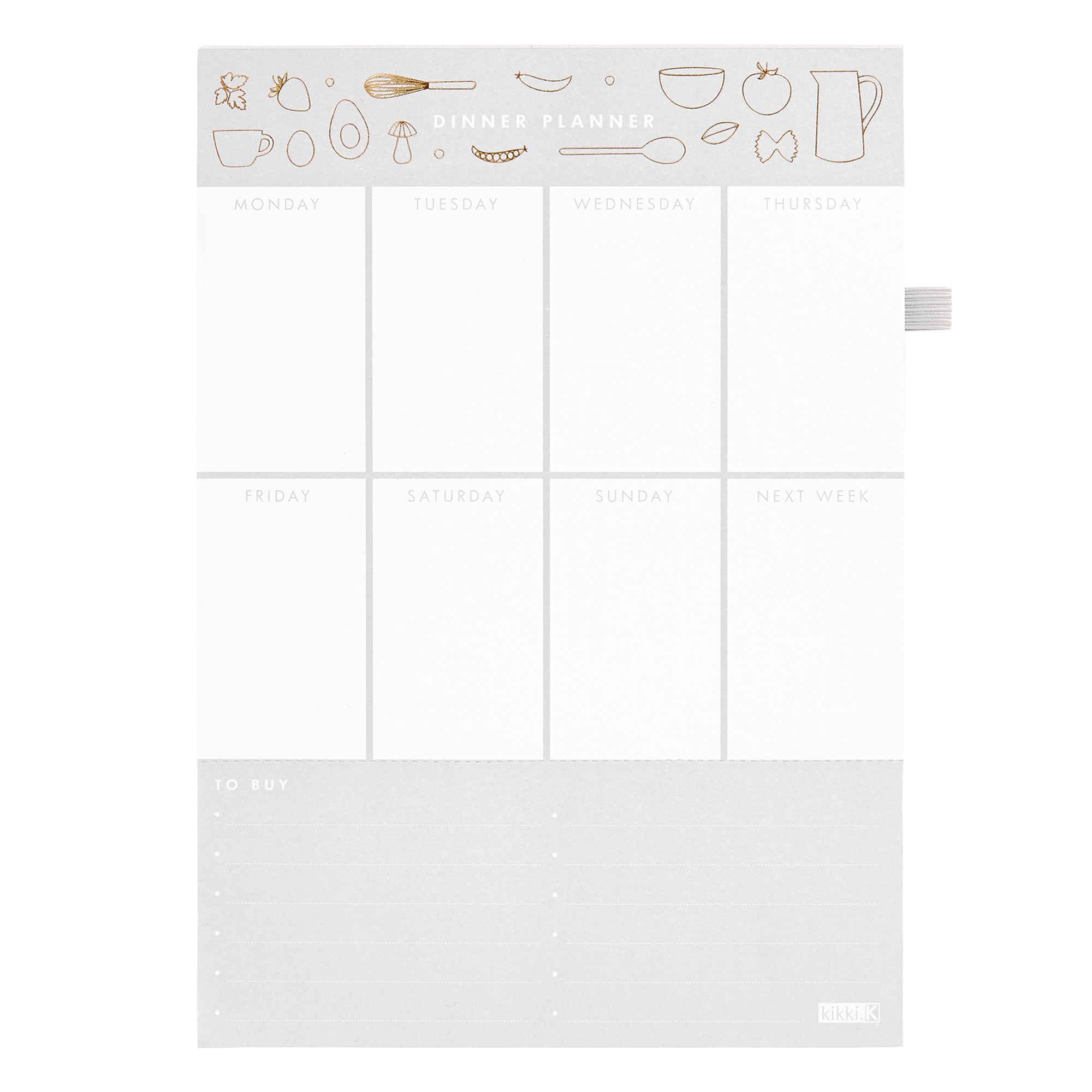 A5 Dinner Planner Pad: Hemlagat throughout Wall Calendar Kikki K