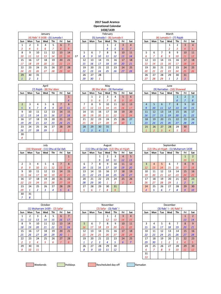 Aramco Calendar 2020 - Fill Online, Printable, Fillable in Calendar 2021 Aramco