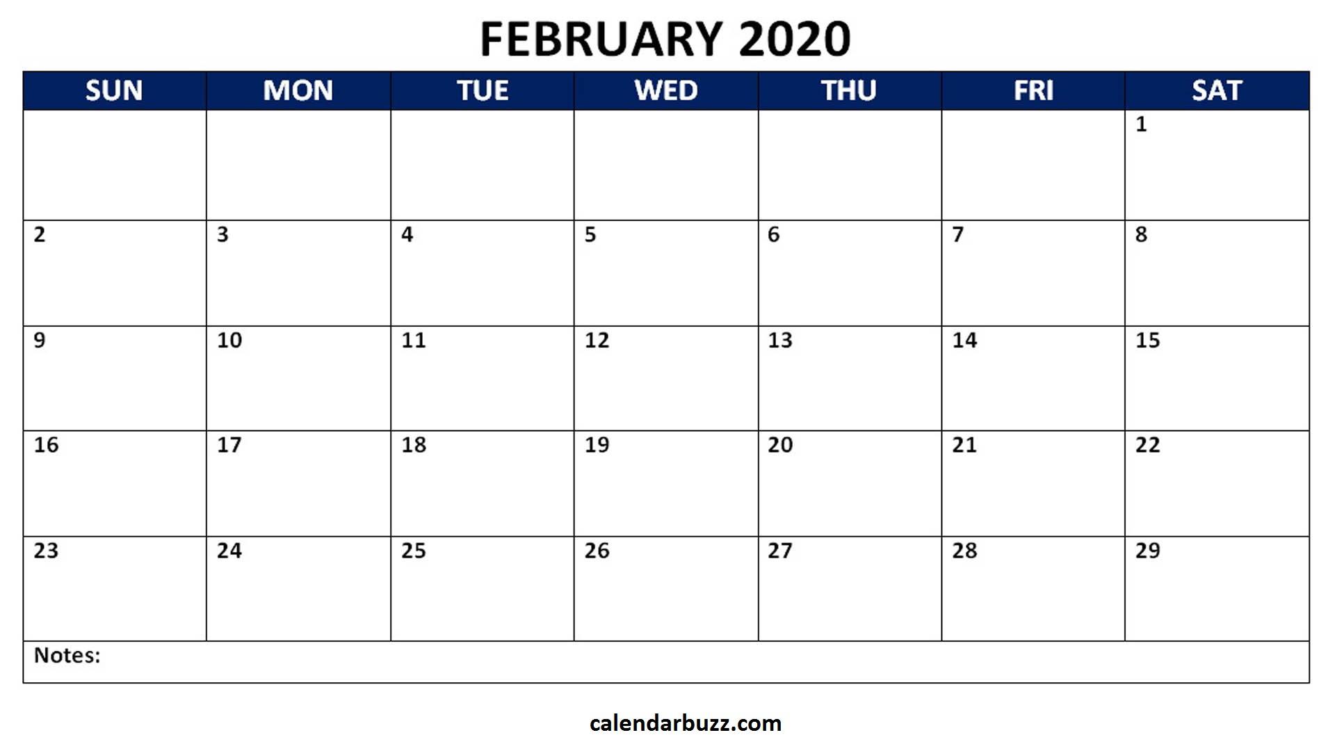 Blank 2020 Calendar Printable Monthly Word Templates throughout Free Monthly Calendar Printable And Editable
