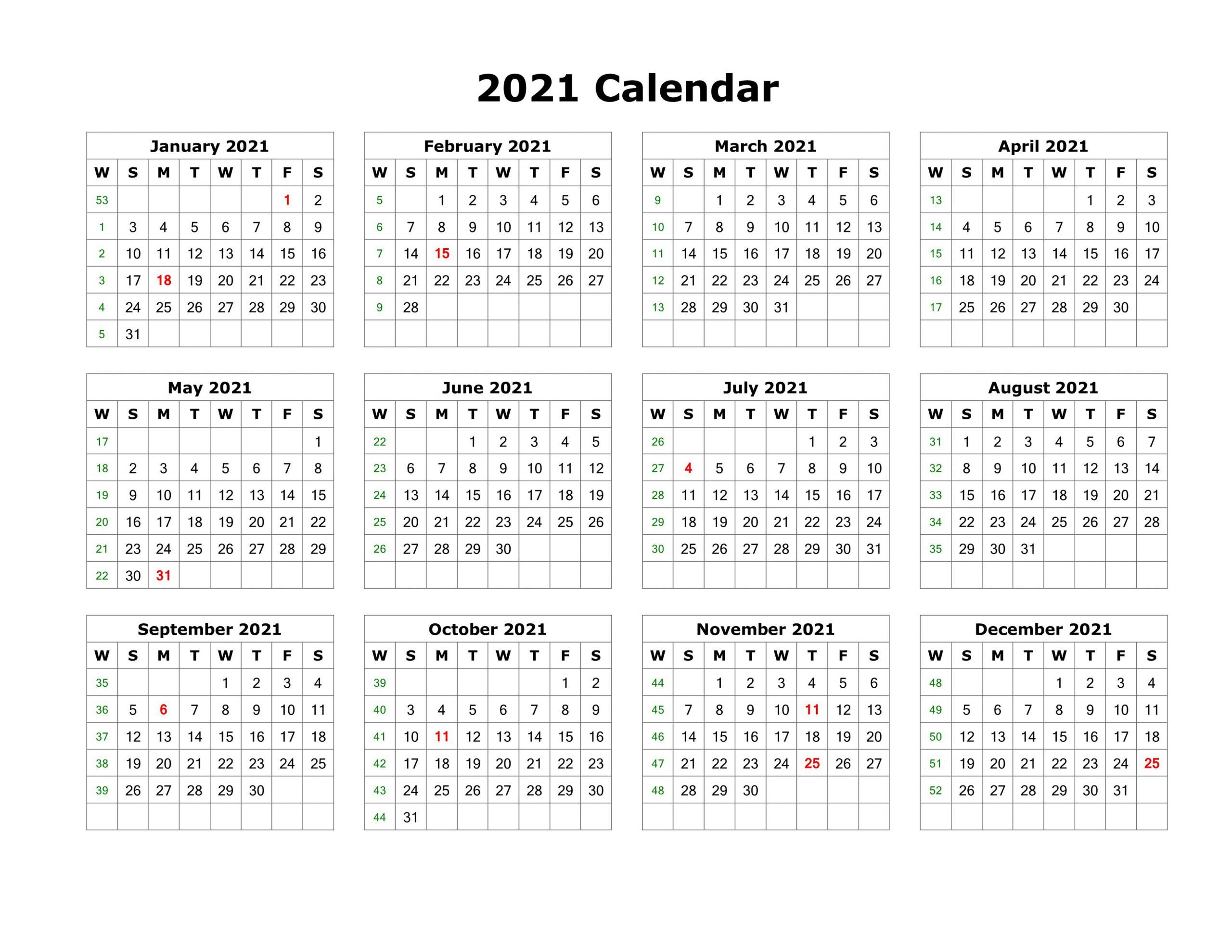 Blank Calendar Template Word 2021 Various Months In 2020 pertaining to Fill In 2021 Calendar Pages Blank