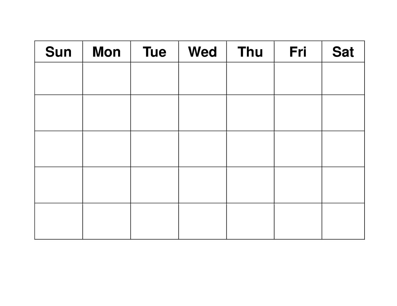 Blank Weekly Calendars Printable | Calendar Template intended for Fill In Calendars