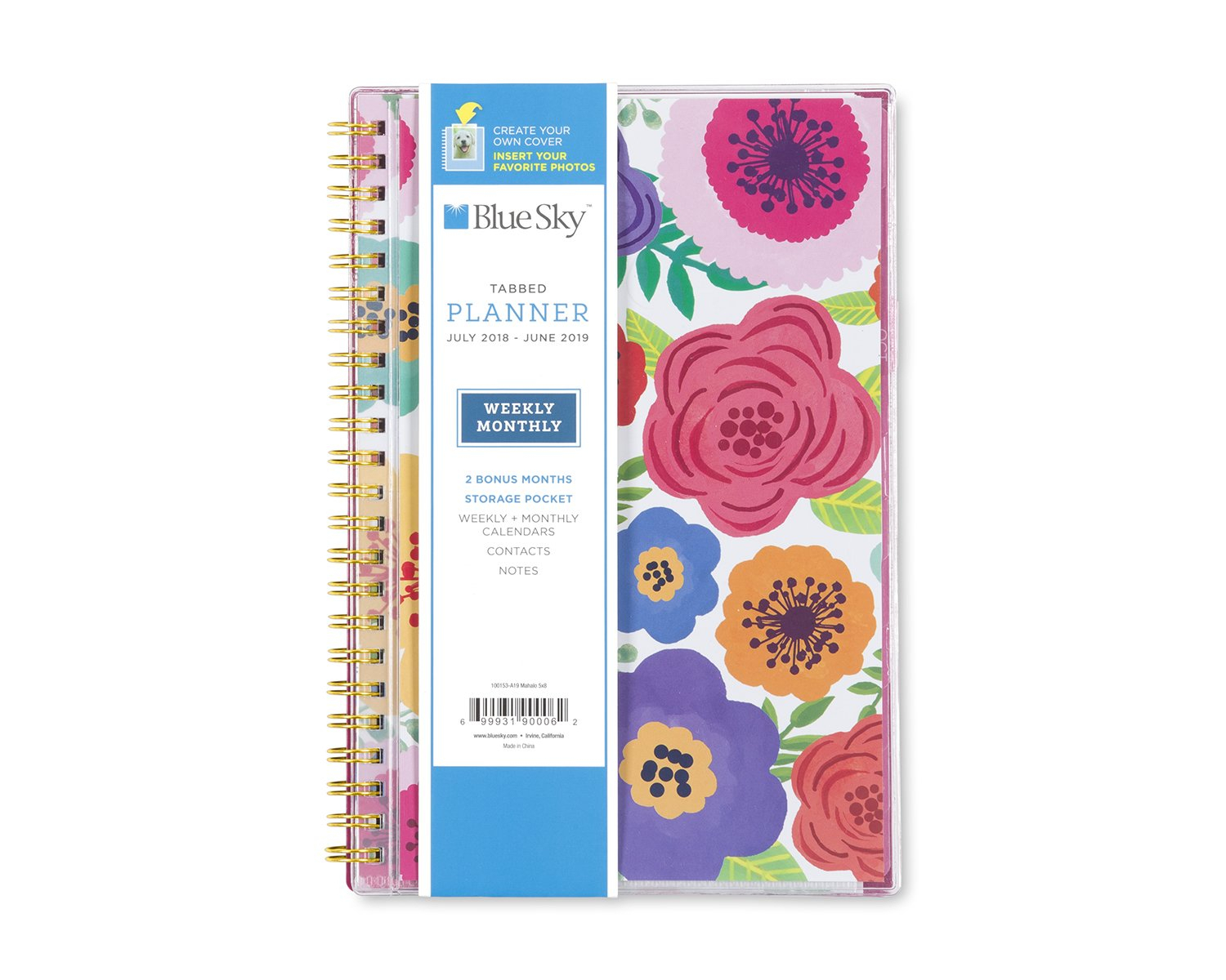 Blue Sky 2018-2019 Academic Year Weekly & Monthly Planner intended for Free Hallmark Pocket Calendars