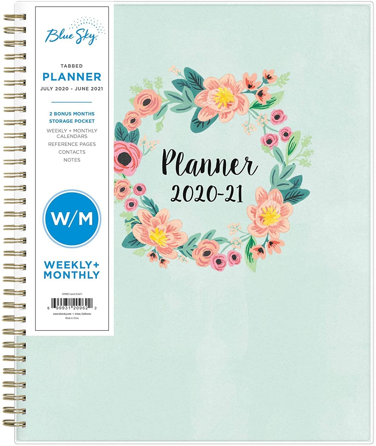 Blue Sky 2020-2021 Academic Year Weekly & Monthly Planner in 2021 2021 2 Year Monthly Planner Live
