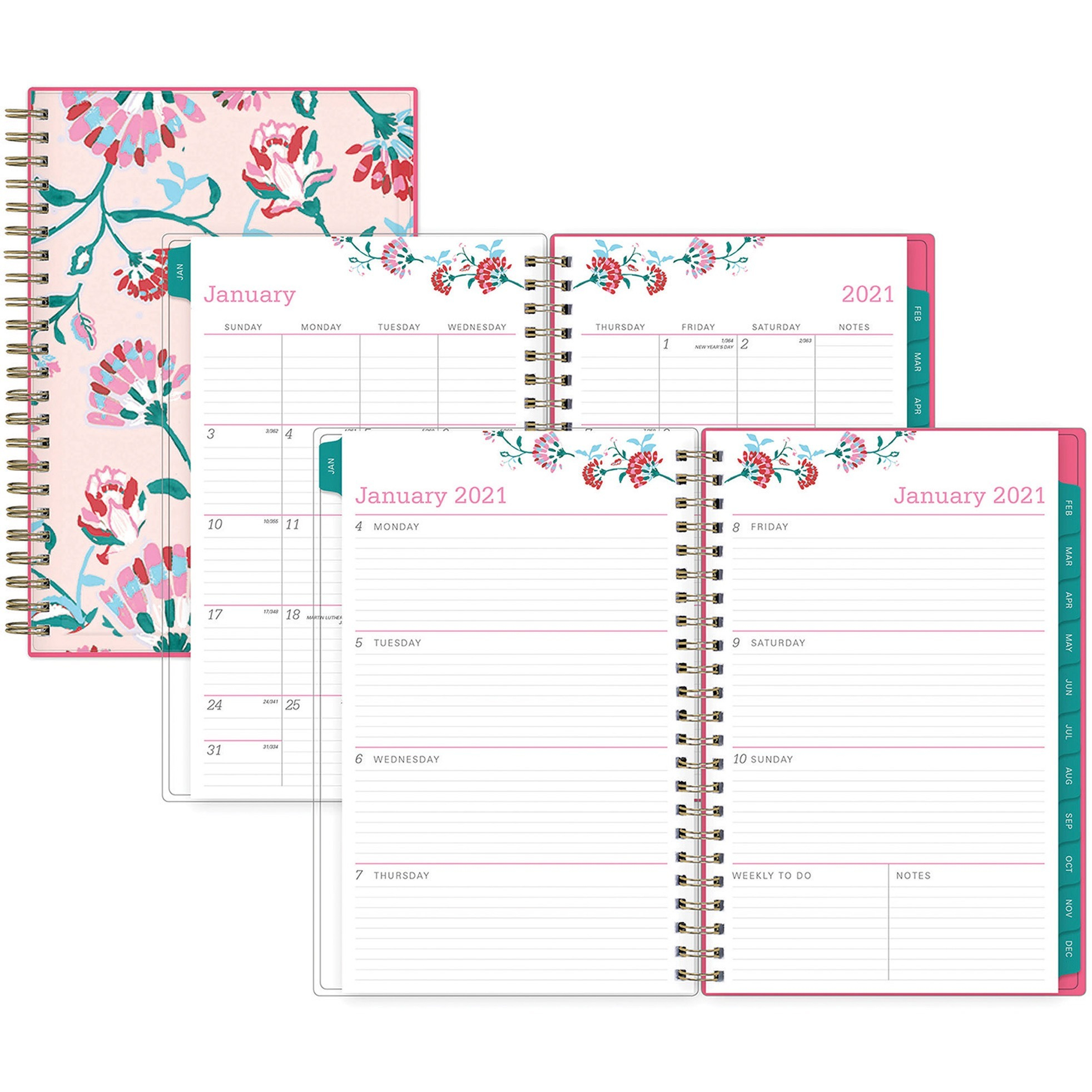 Blue Sky Bca Alexandra Small Weekly/Monthly Planner throughout 2021 Pocket Sized Weekly Planner: