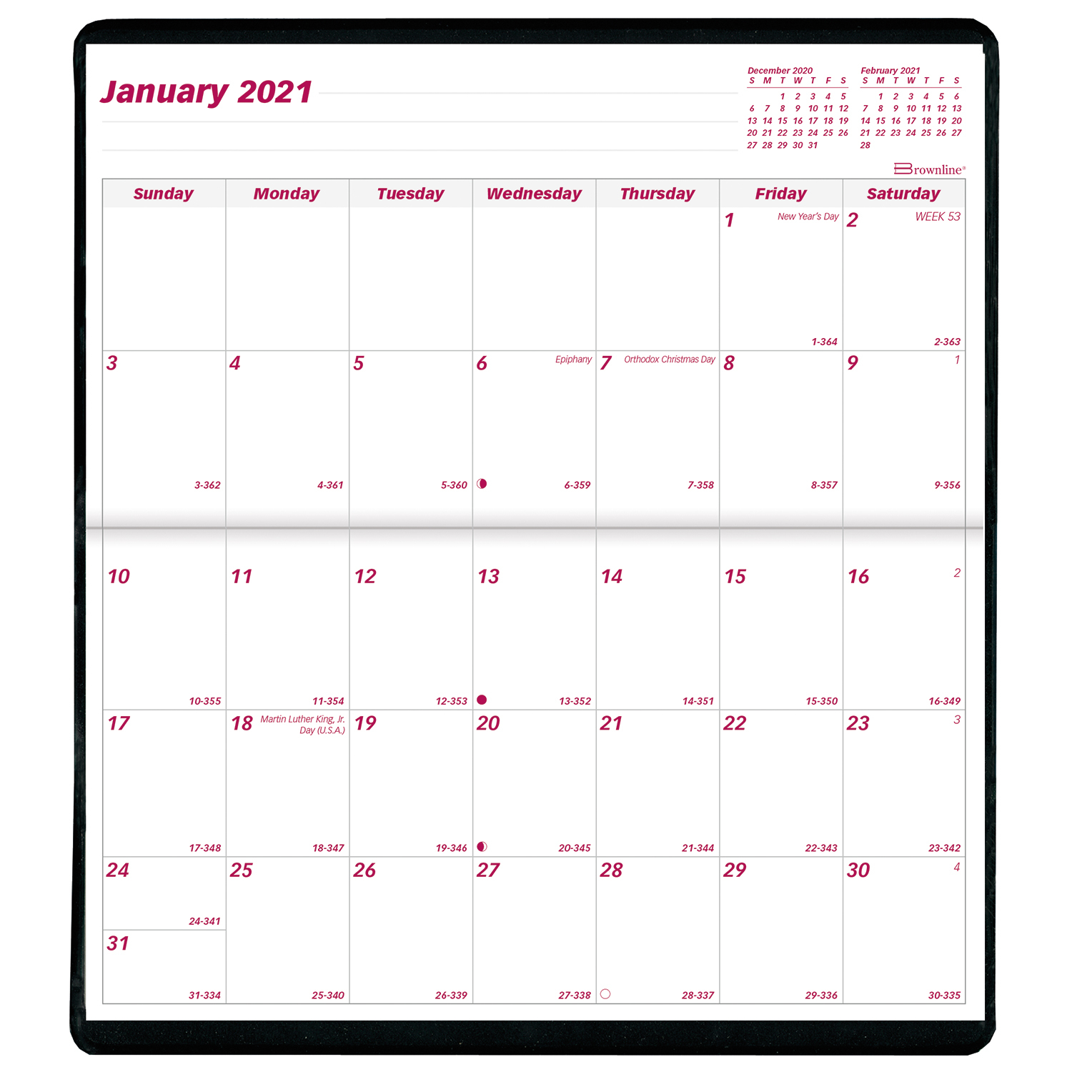 """Brownline 2-Year Monthly Pocket Planner, 6 1/2"""" X 3 1/2 within 2021-2021 2 Year Pocket Planner: 2 Year"""