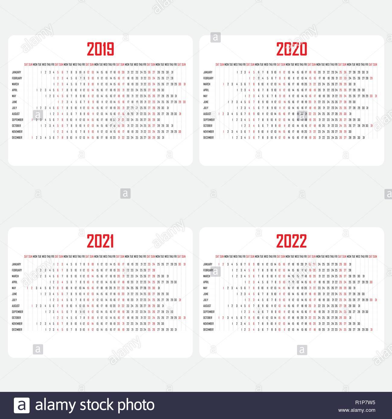 Calendar 2019,2020,2021 & 2022 Template.calendar Design inside Calendario 4-4-5 2021