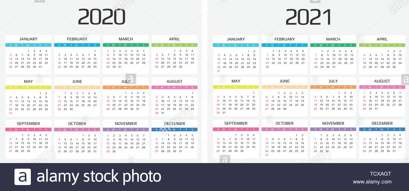 Calendar 2021 High Resolution Stock Photography And Images in 2021-2021 Monthly Planner: 2 Years