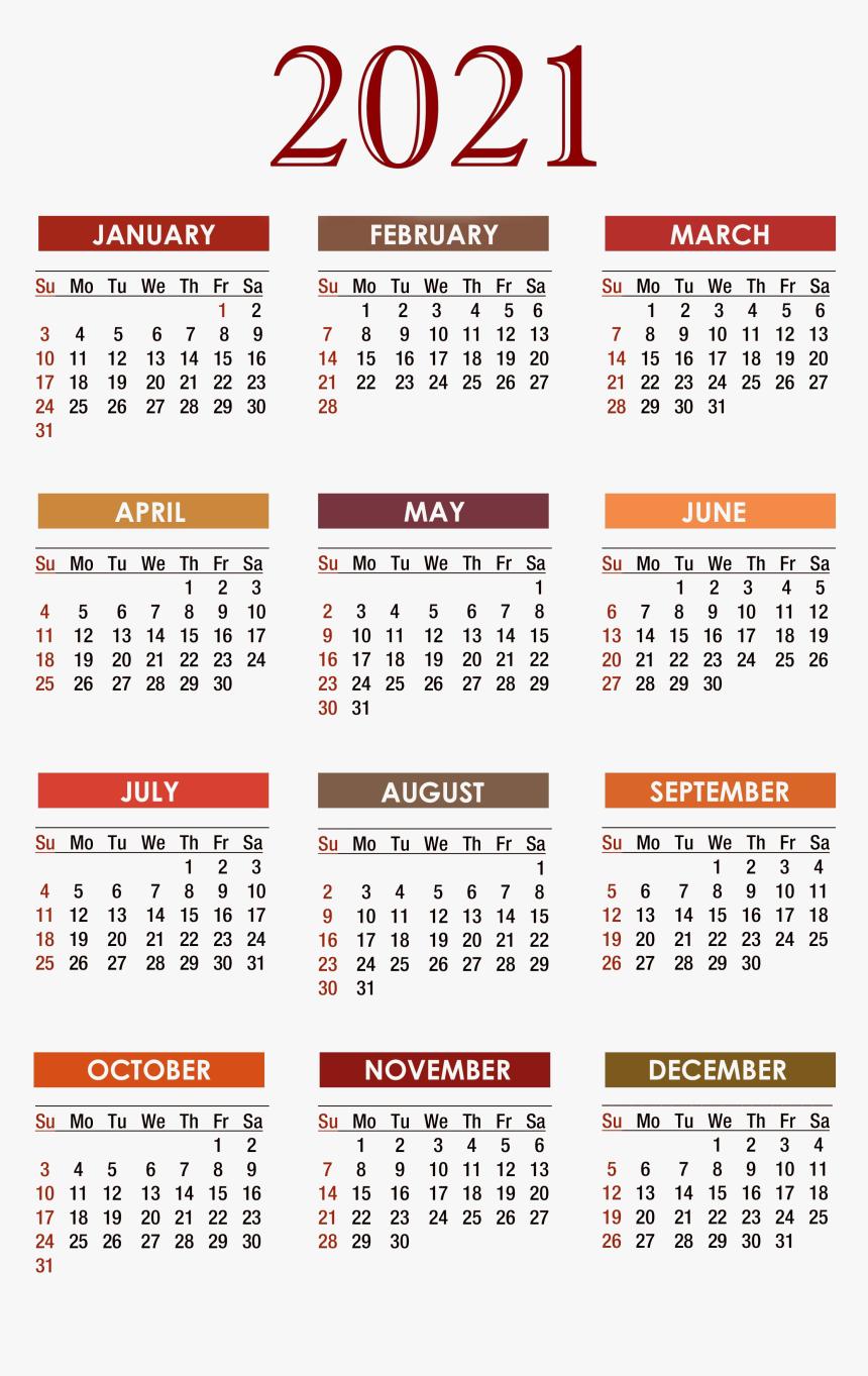Calendar 2021 Png Free Download - Free Printable 2020 in Printable Pocket Size Calendar 2021