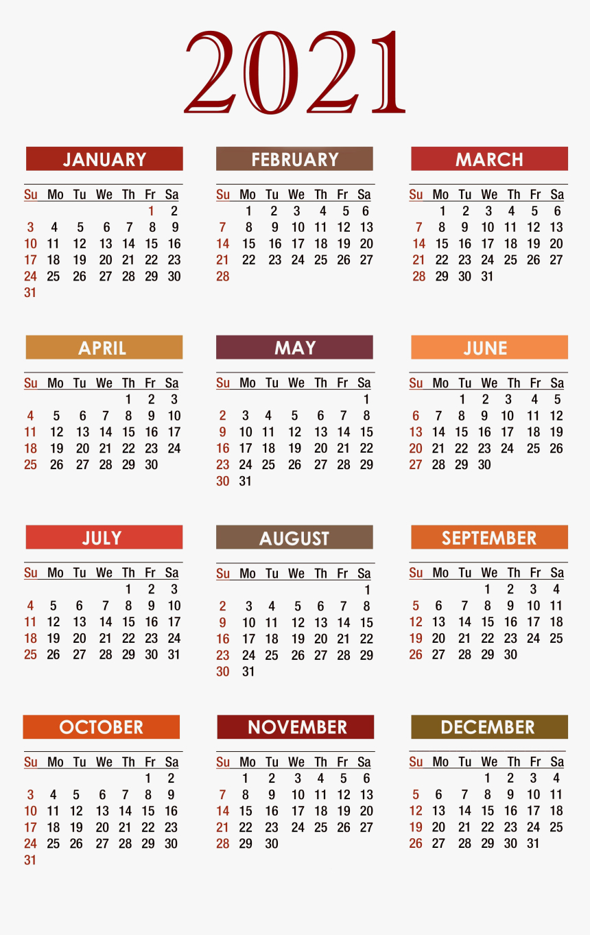 Calendar 2021 Png Free Download - Free Printable 2020 pertaining to Free Printable Pocket Calendar 2021