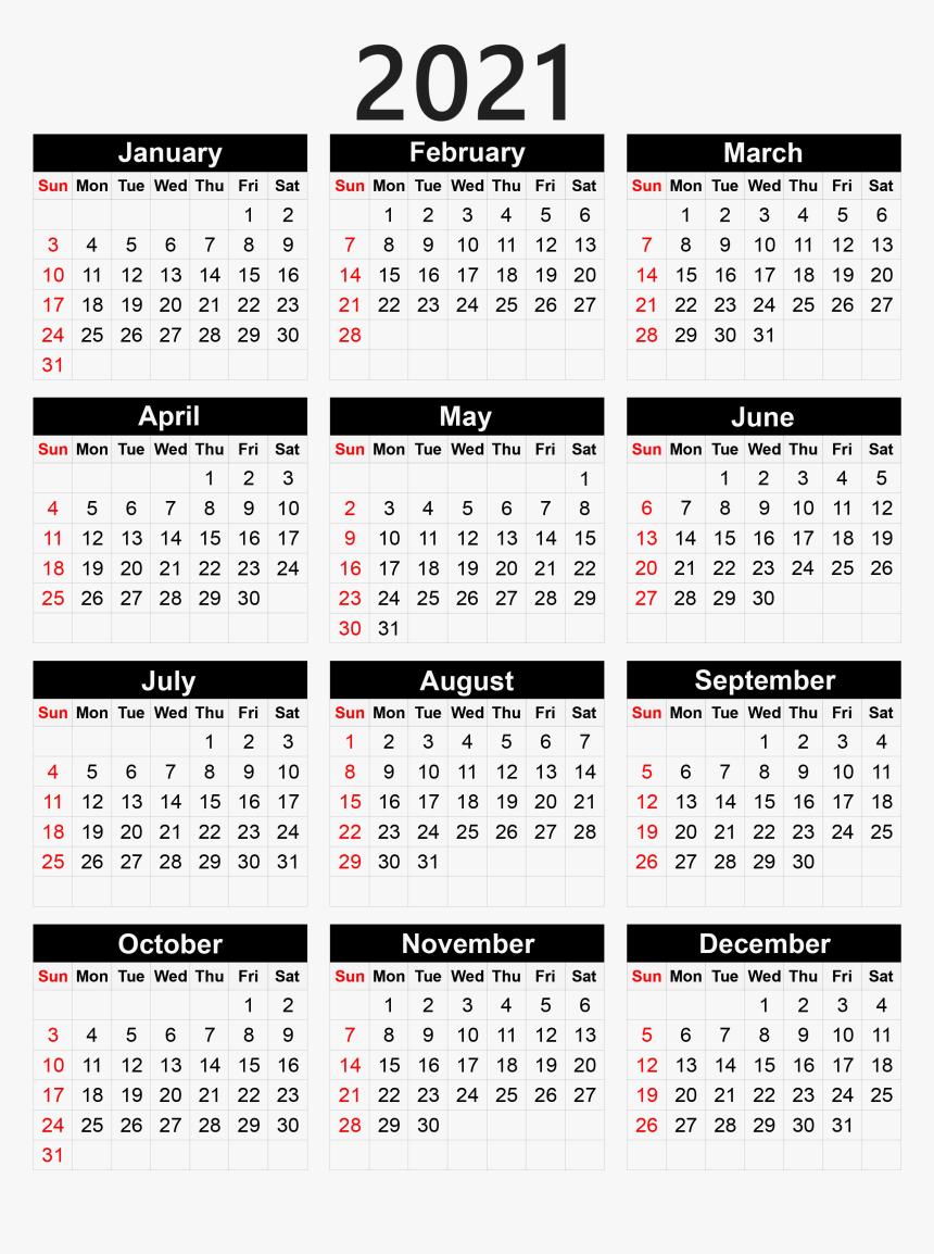 Calendar 2021 Png - Pocket Calendar 2020 Printable intended for 2021 Printable Pocket Calendars