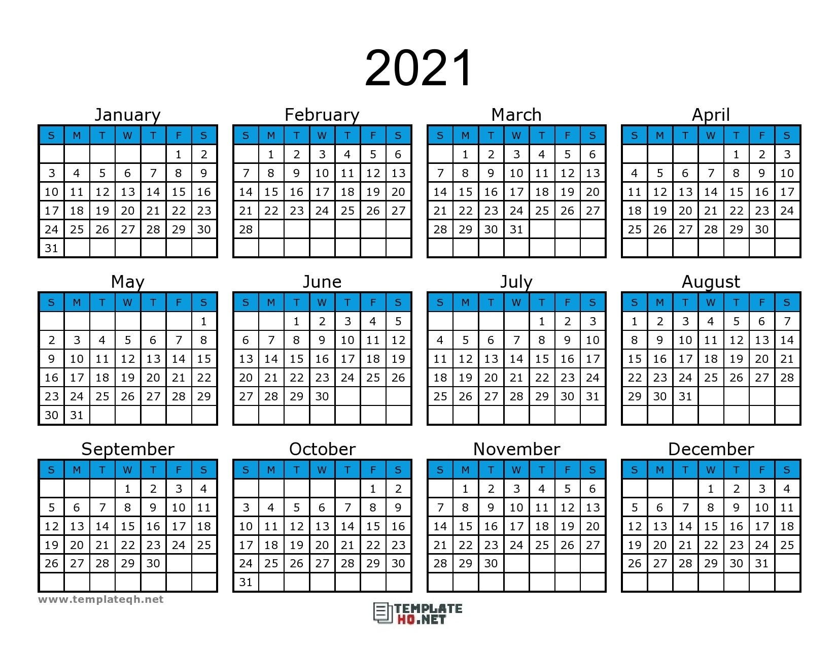 Calendar 2021 To Print Free Simple For All Users | Free within Printfree Calendar 2021 With Date Boxes