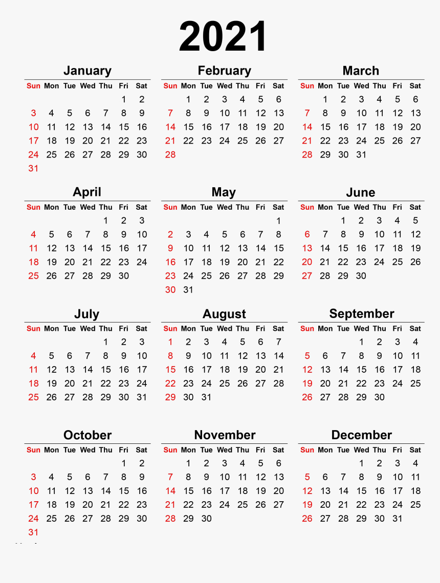 Calendar 2021 Transparent Background Png - 2020 Printable with regard to Pocket Calendar 2021-2021: Two Year