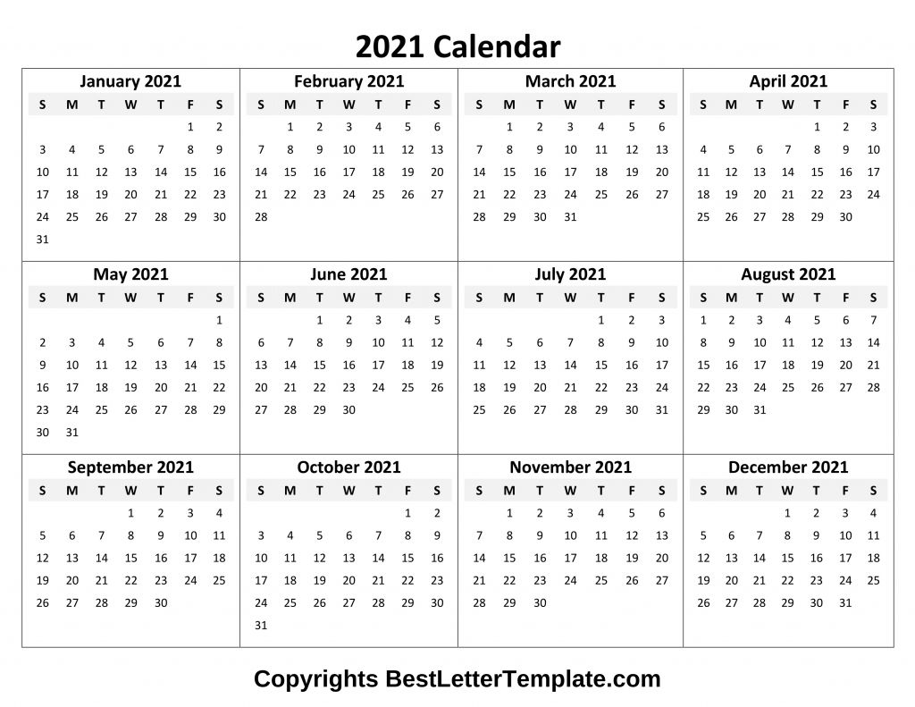 Calendar 2021 Tumblr Free In 2020 | Printable Yearly with Fill In Yearly Calendar 2021