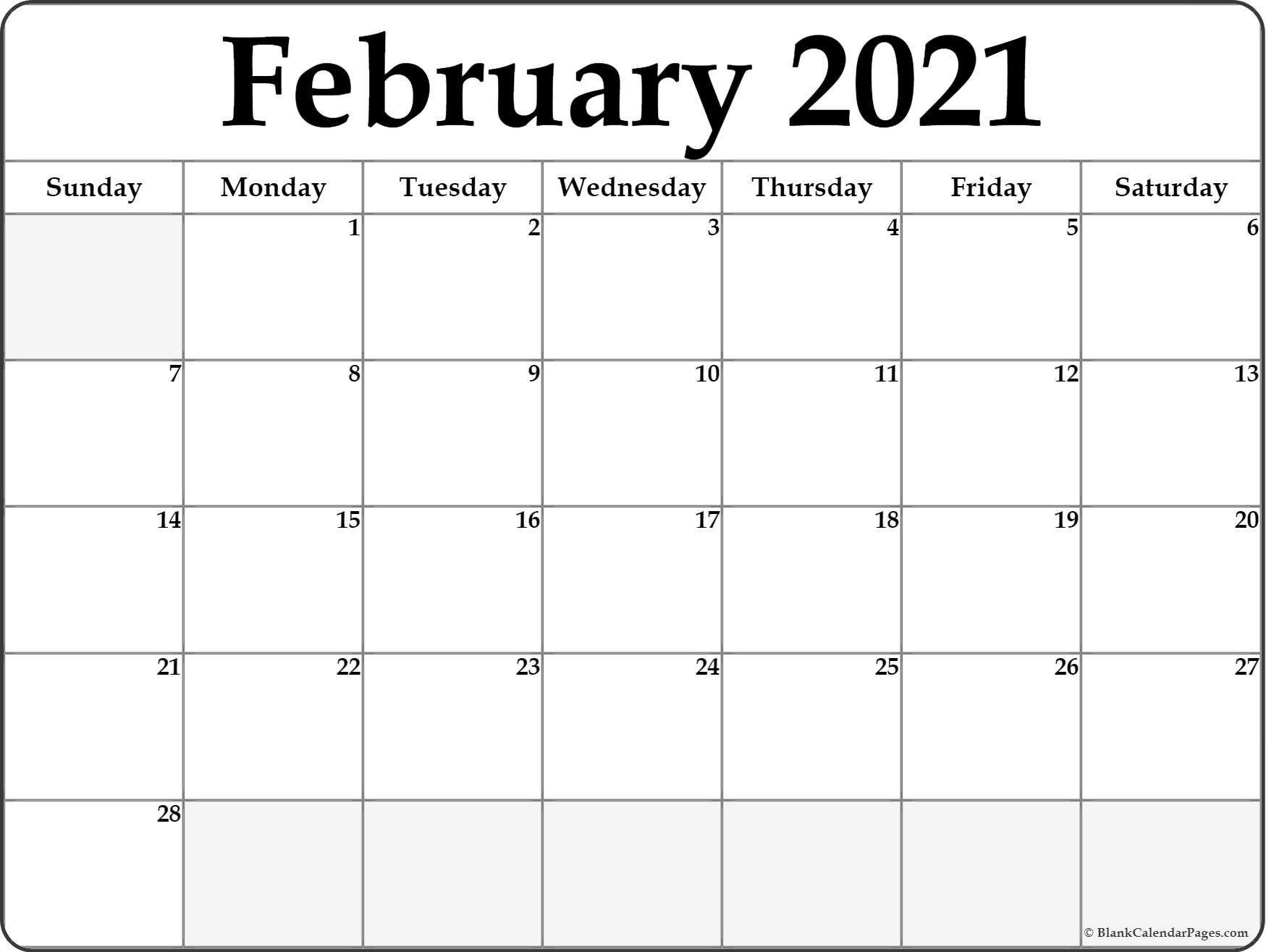 Calendar February 2021 Editable Planner In 2020 | February intended for 2021 Fillable Calendar Free Printable