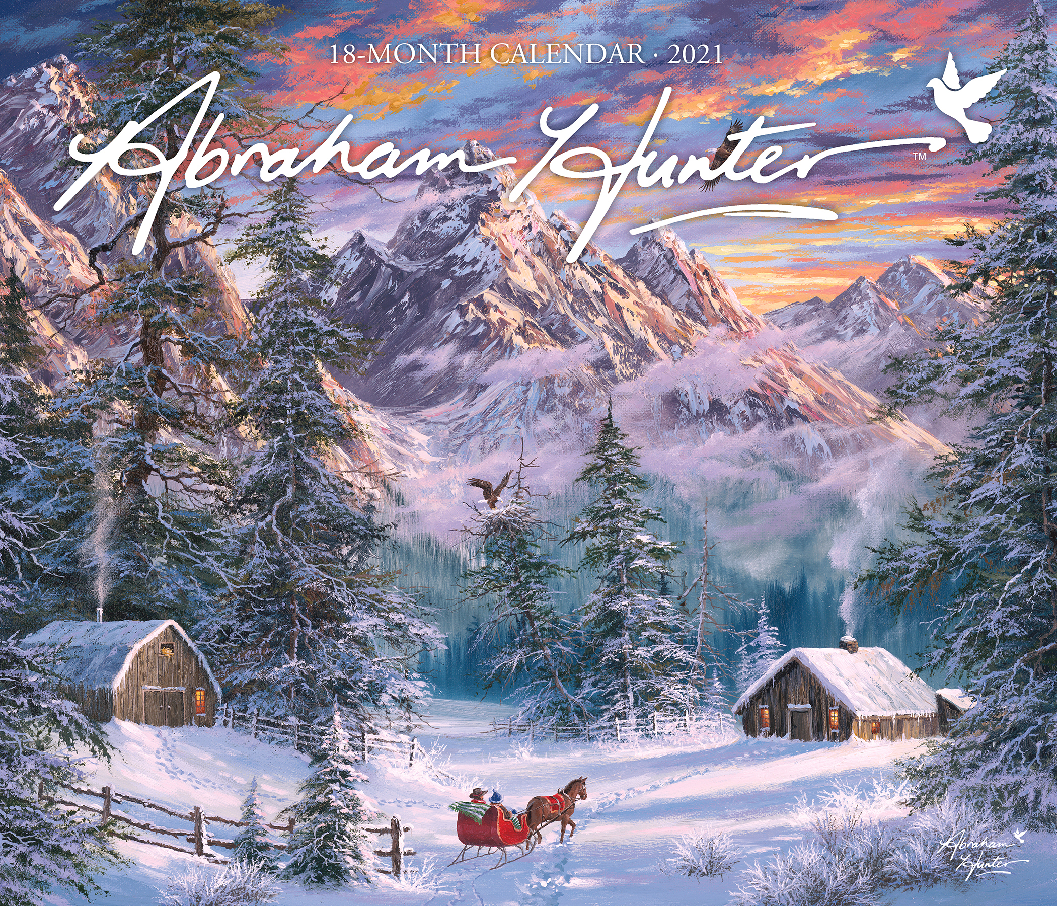 Calendar Ink 2021 Abraham Hunter Wall Calendar (Oversized) - Walmart intended for Hunting Calendar 2021