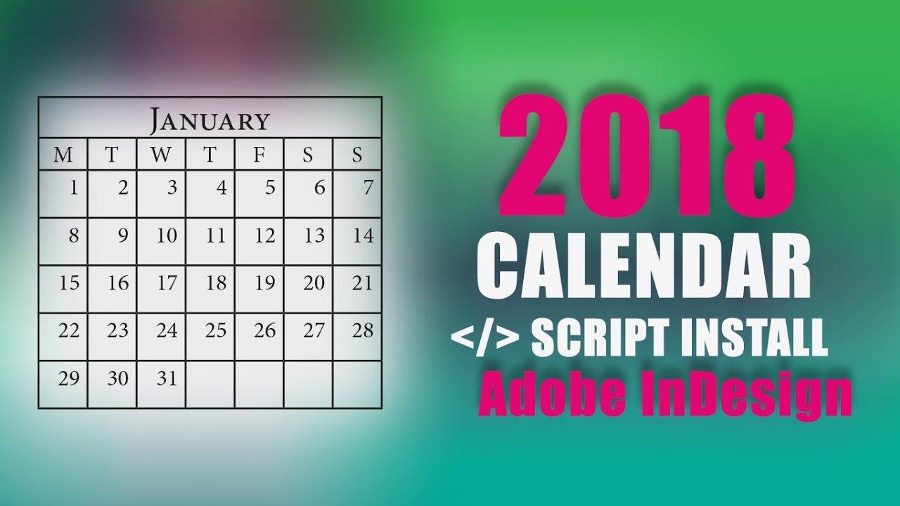 Calendar Script | How To Install Calendar Script In Adobe Indesign within Calendar Wizard Indesign 2021