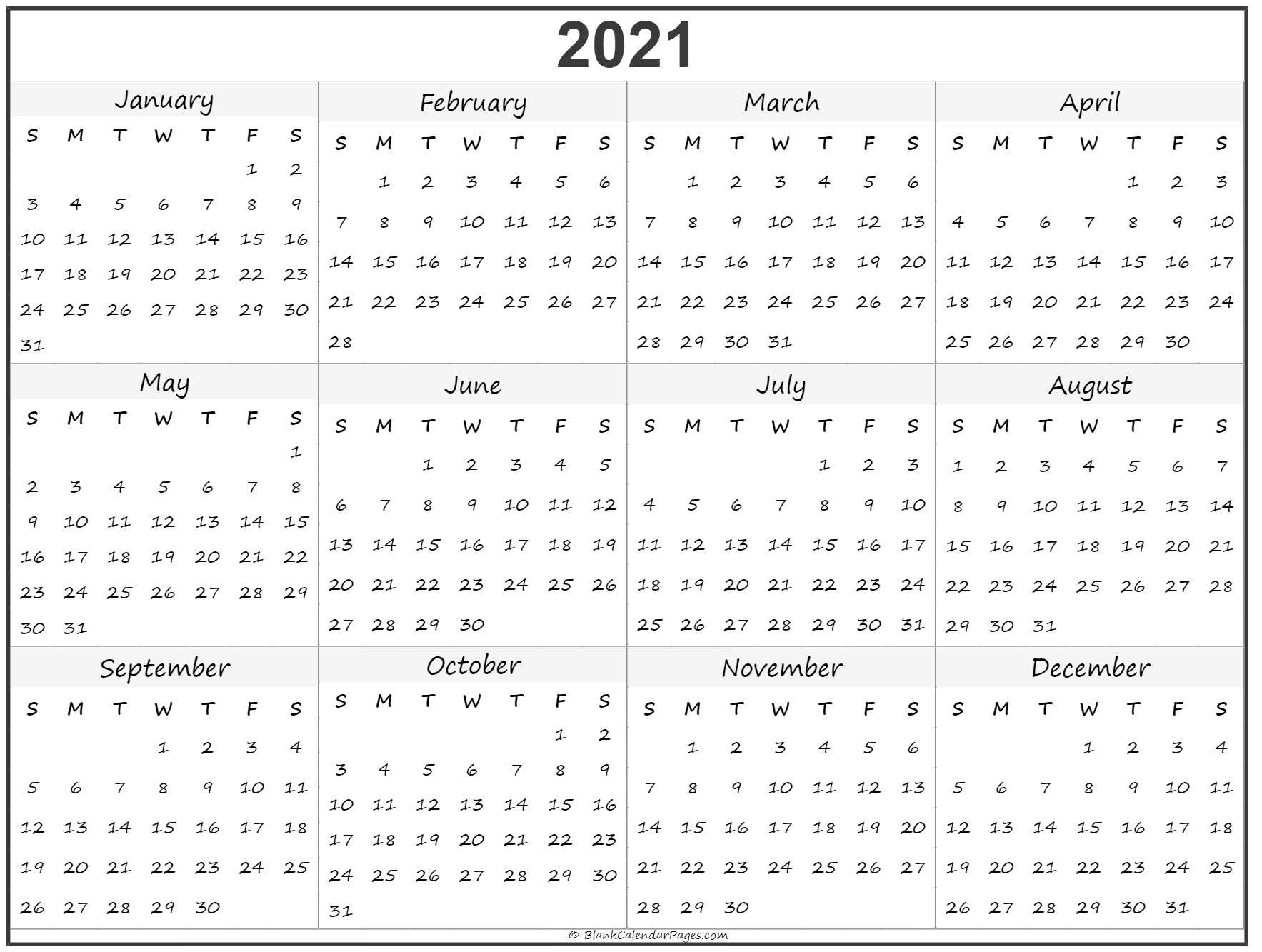 Calendar To Print 2021 Free All Months – Welcome To Our for Calendar 2021 All Months