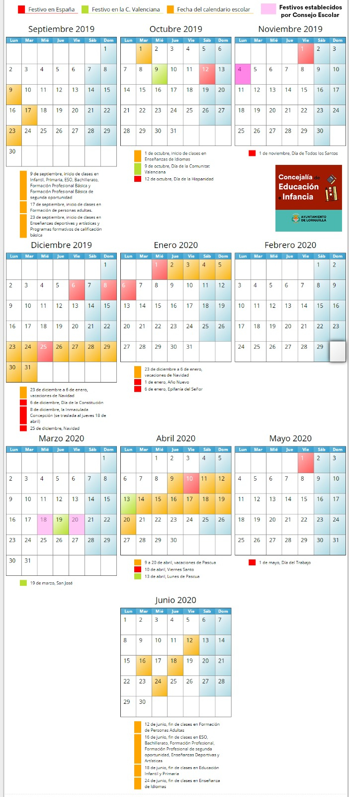 Calendario Escolar – Ampa Ceip W. A. Mozart inside Calendario Escolar WordPress