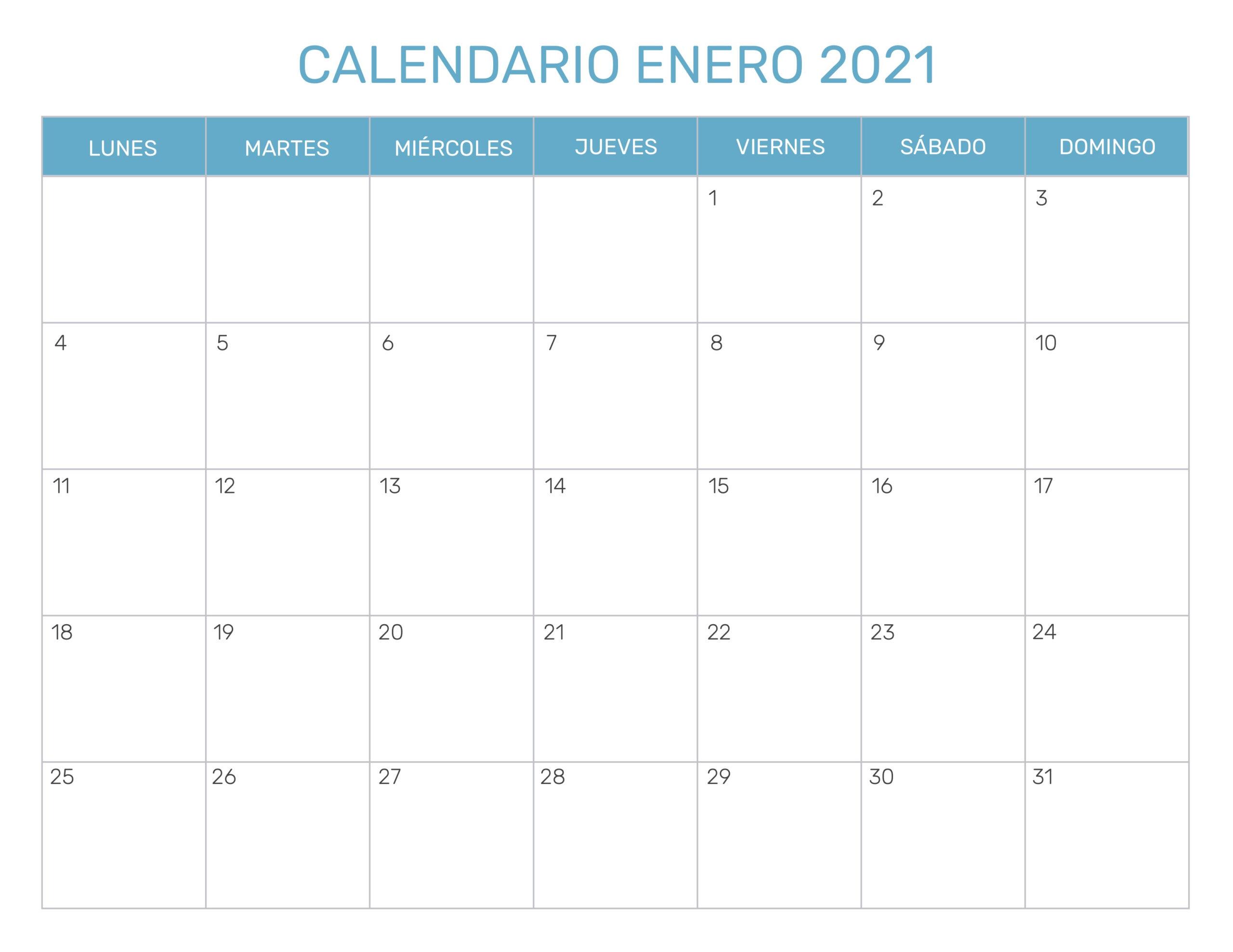 Calendario Mensual Para Imprimir Año 2021 for Calendario Vertex 2021
