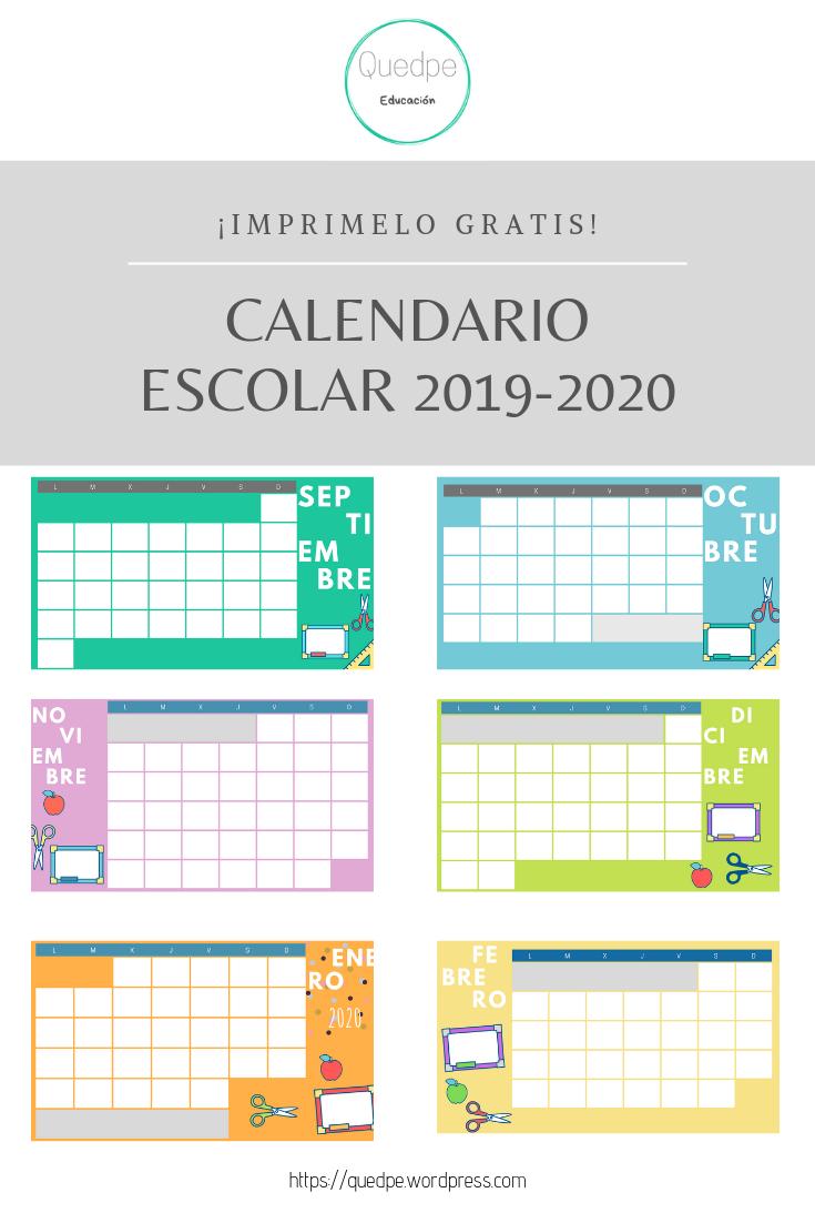 Calendarios 2019-2020 | Calendario Escolar, Calendario for Calendario Escolar WordPress