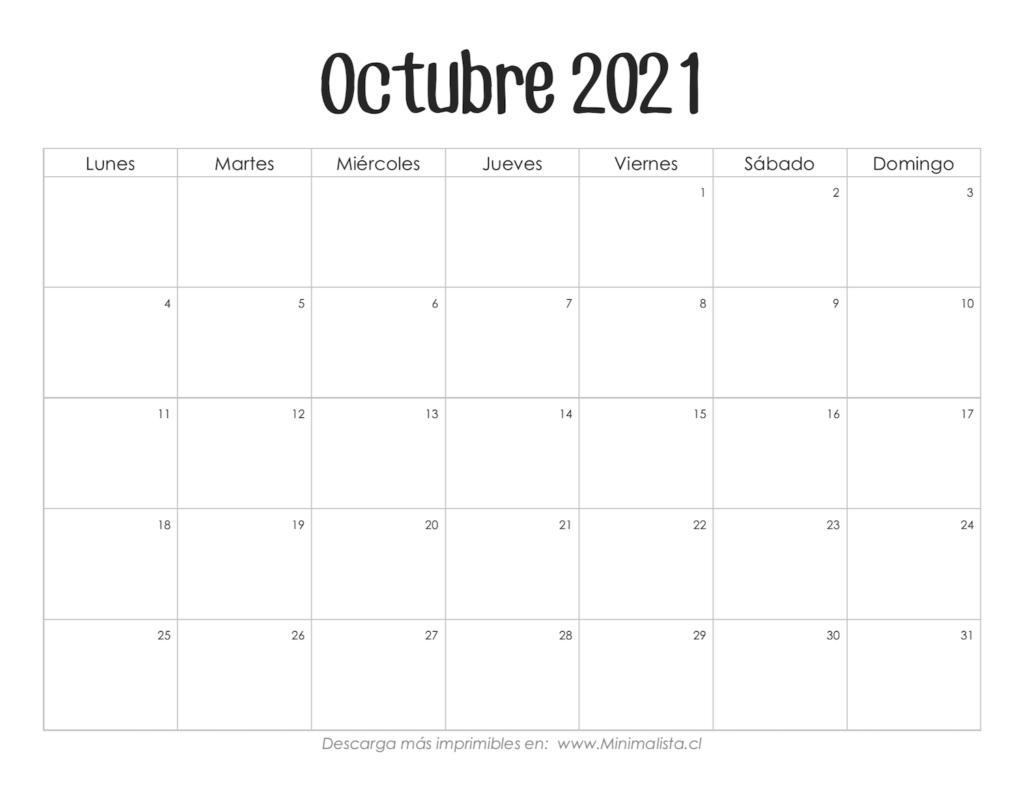 Calendarios 2021 Para Imprimir - Minimalista inside Calendario Vertex 2021