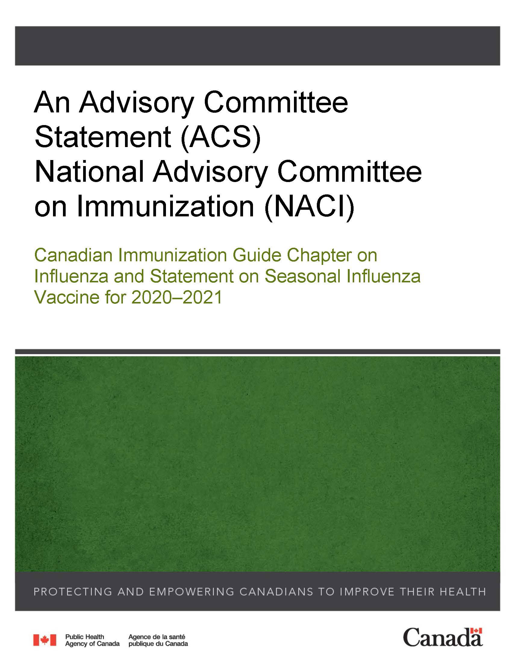 Canadian Immunization Guide Chapter On Influenza And within Mcgeers Criteria 2021 Checklist