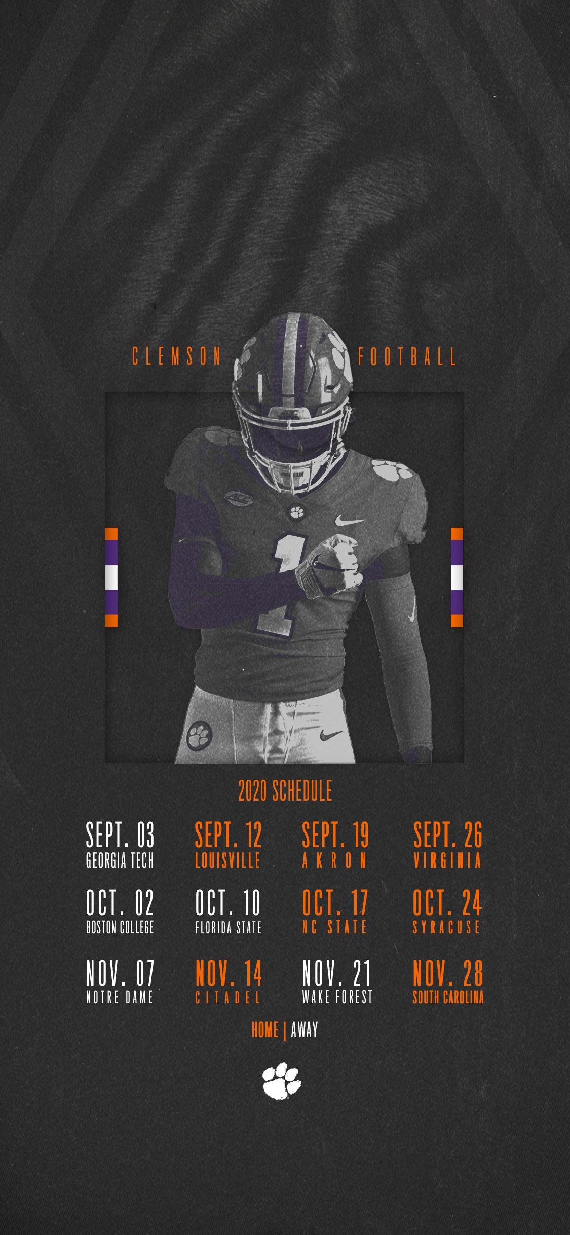 Clemson Announces 2020 Football Schedule – Clemson Tigers inside Printable Nfl 2021 Schedule