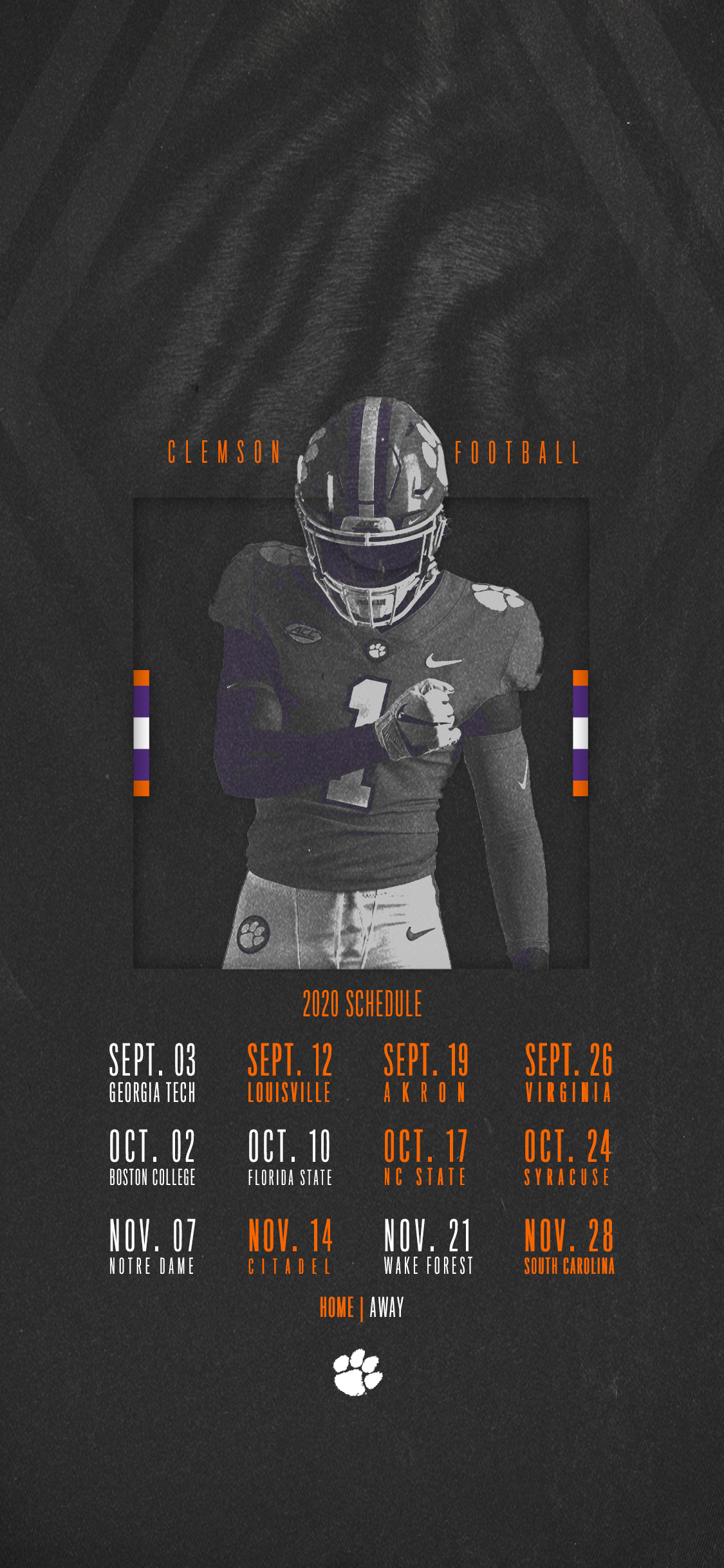 Clemson Announces 2020 Football Schedule – Clemson Tigers pertaining to Printable 2021 Nfl Schedule