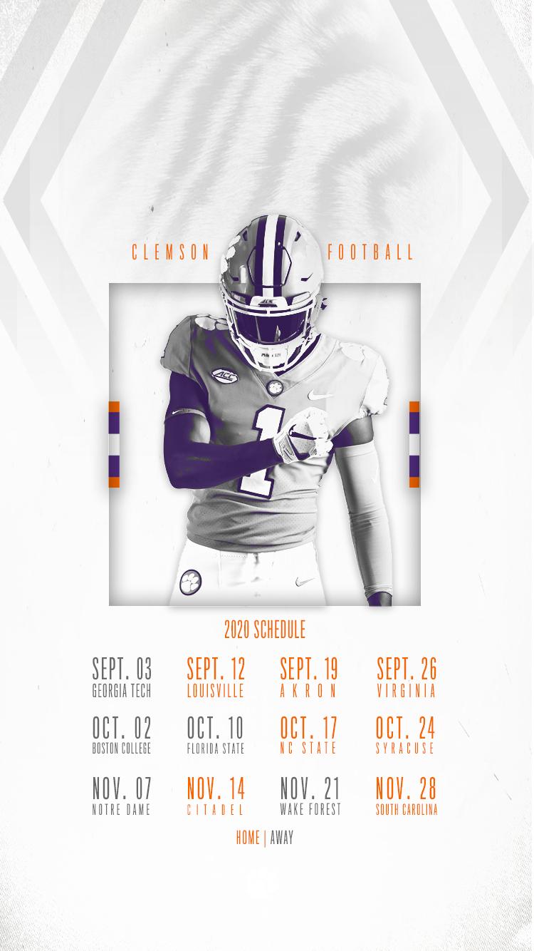 Clemson Announces 2020 Football Schedule – Clemson Tigers regarding Printable 2021 2021 Nfl Schedule