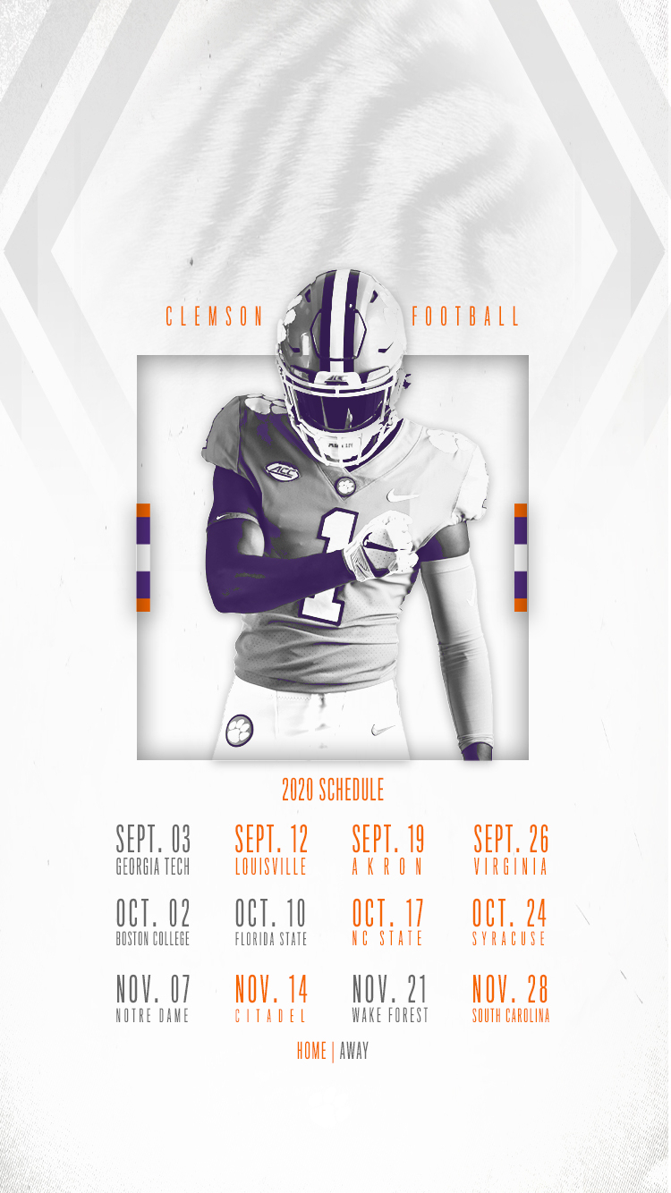 Clemson Announces 2020 Football Schedule – Clemson Tigers regarding Printable Nfl Schedule 2021