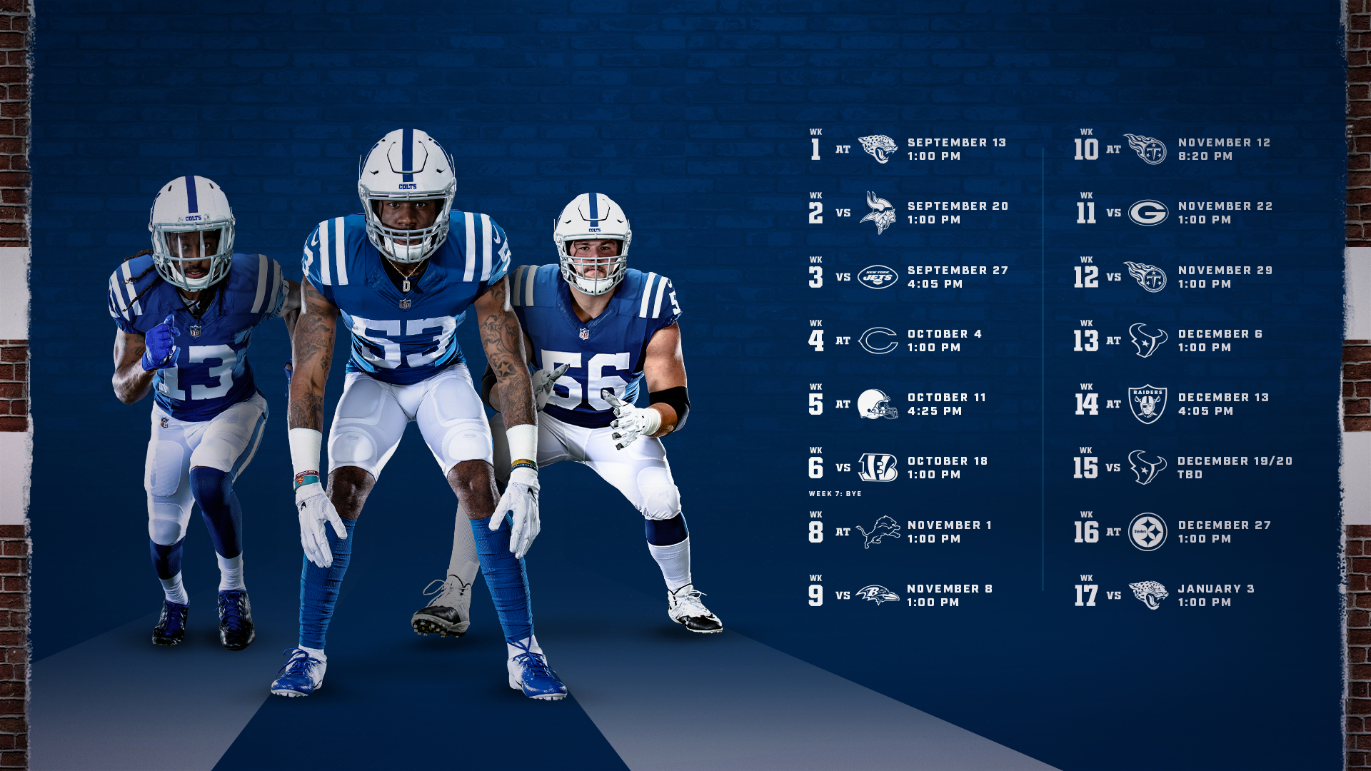 Colts Schedule   Indianapolis Colts - Colts in Nfl 2021 Schedule Printable