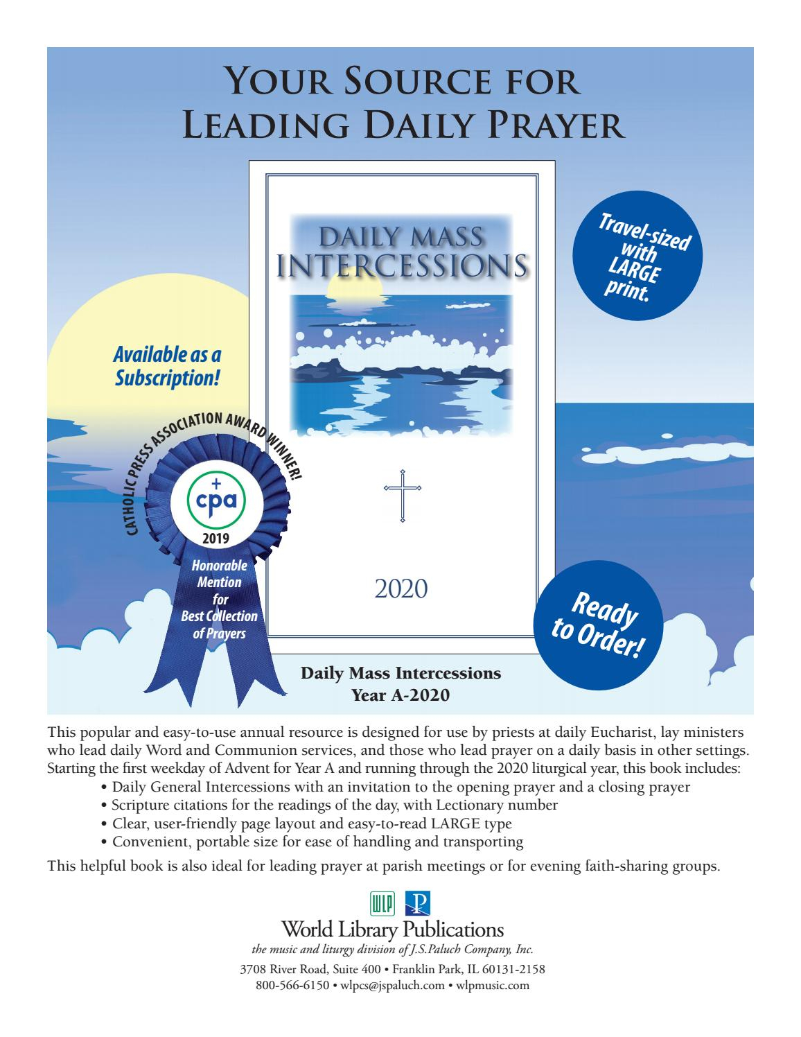 Daily Mass Intercessions 2020World Library Publications for Daily Mass Intercessions 2021