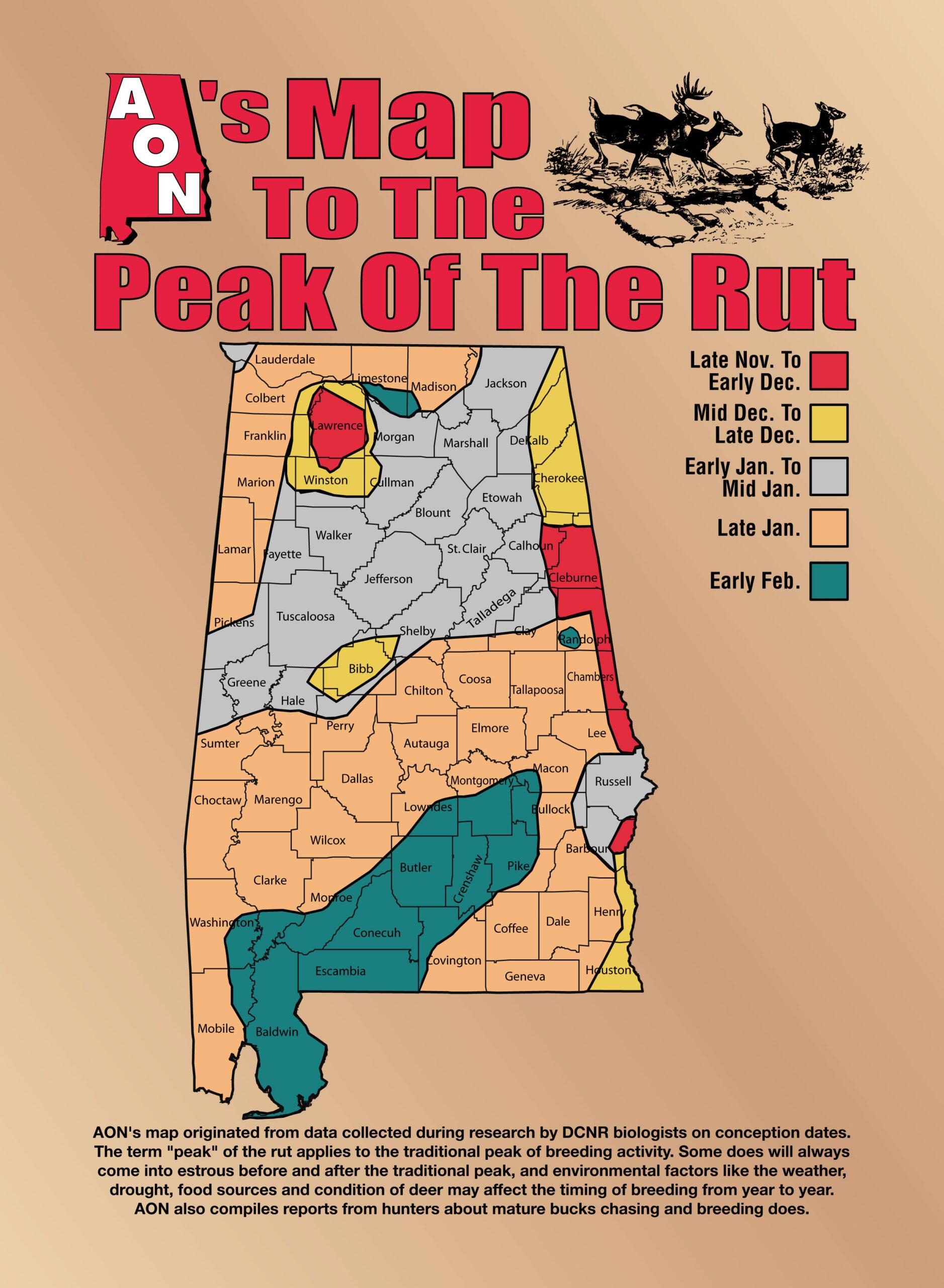 Decoding The Rut inside 2021 Whitetail Rut Calendar