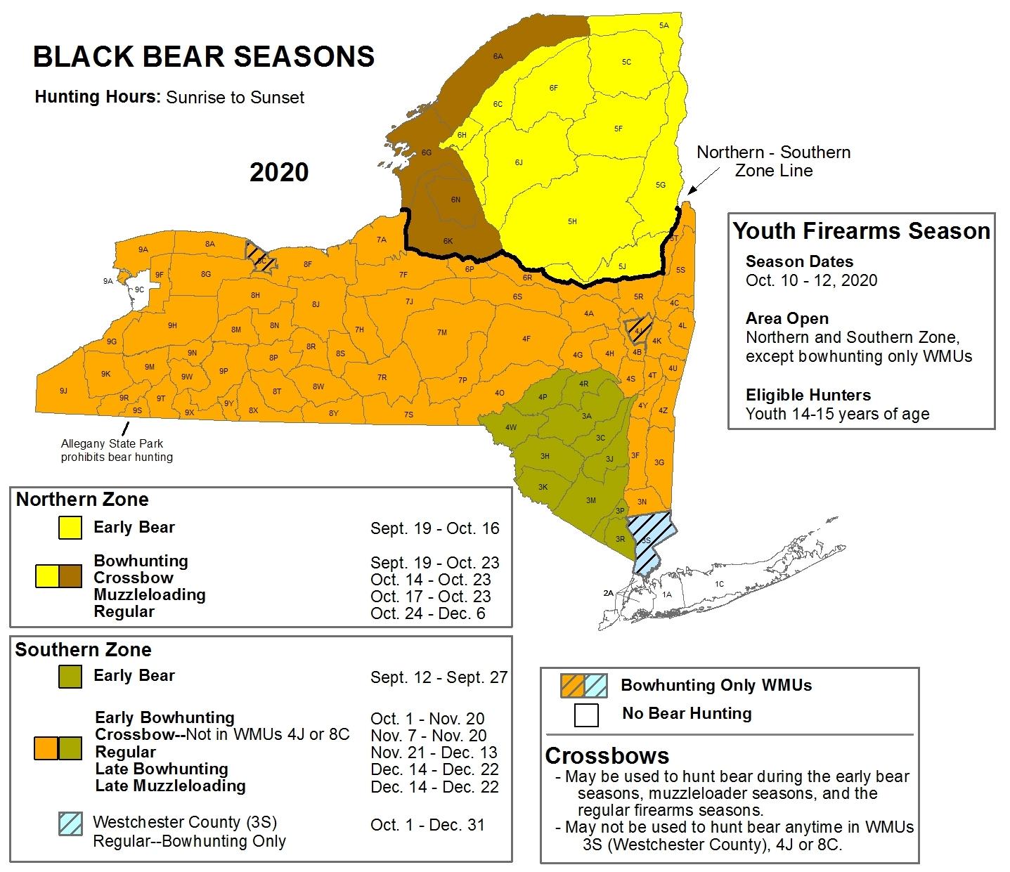 Deer And Bear Hunting Seasons - Nys Dept. Of Environmental pertaining to Deer Hunting Calendar 2021